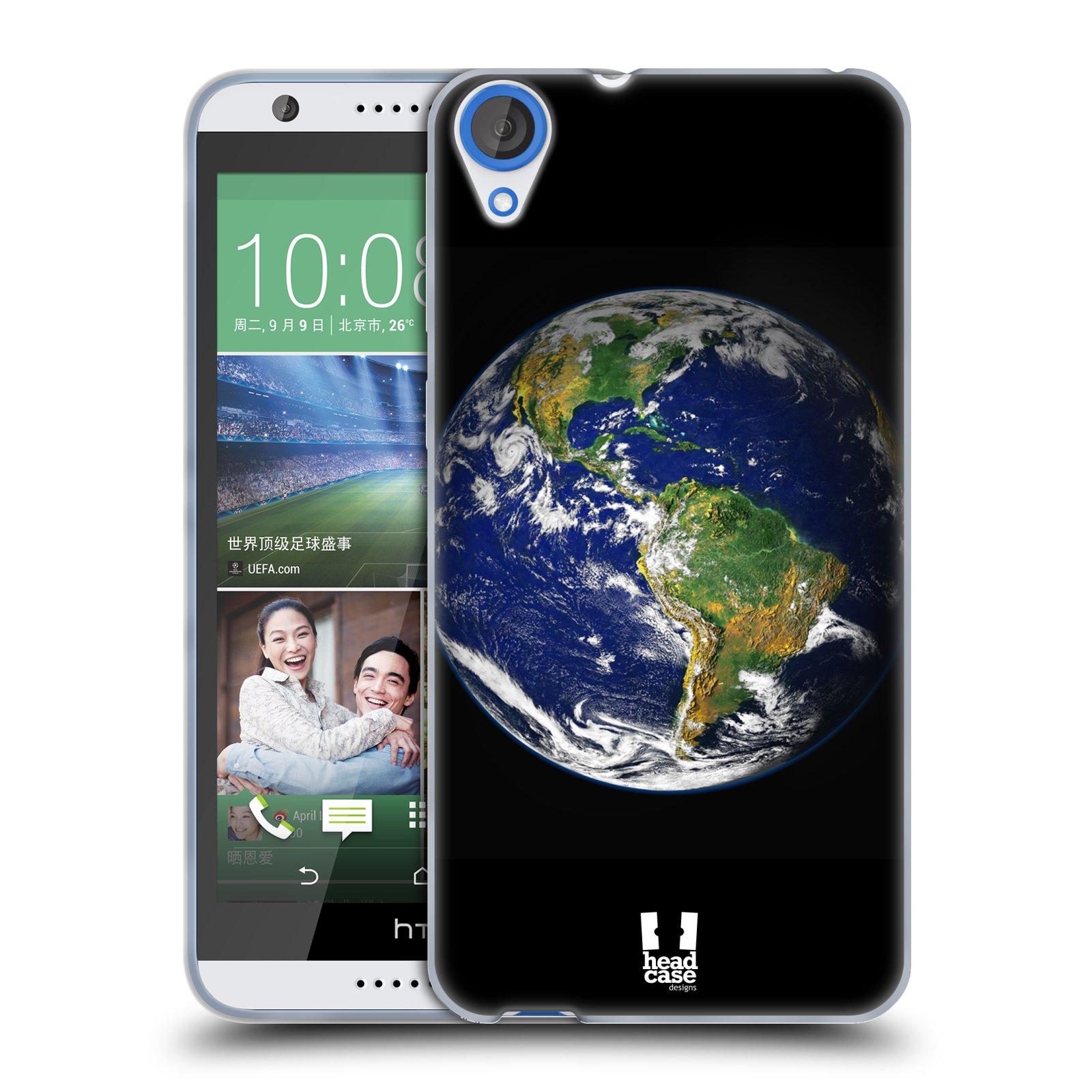 Silikonové pouzdro na mobil HTC Desire 820 HEAD CASE ZEMĚ (Silikonový kryt či obal na mobilní telefon HTC Desire 820)