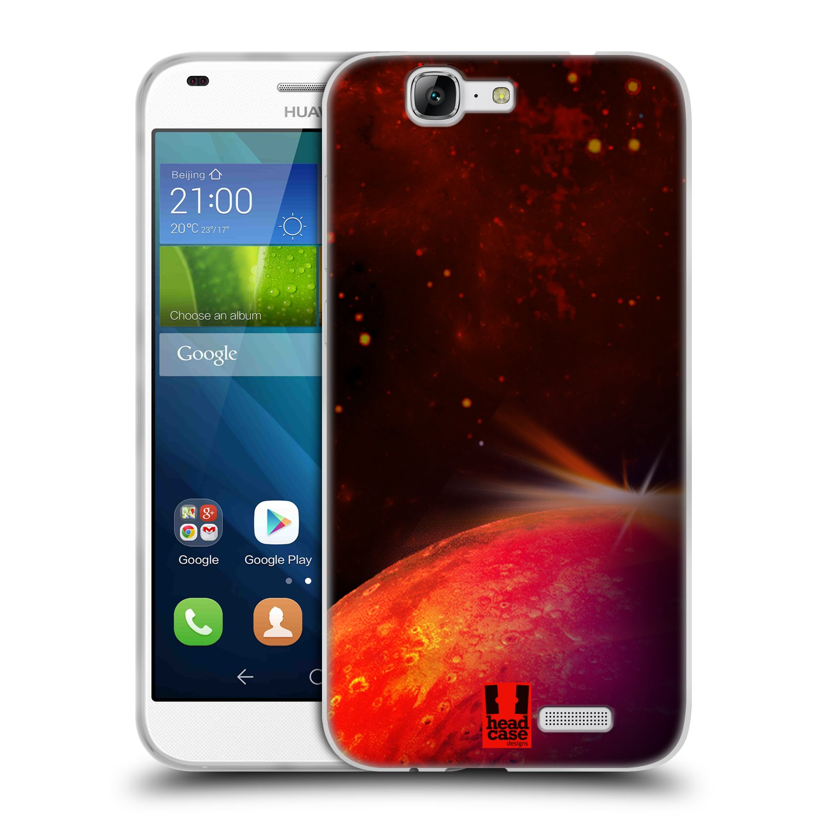 Silikonové pouzdro na mobil Huawei Ascend G7 HEAD CASE MARS (Silikonový kryt či obal na mobilní telefon Huawei Ascend G7)