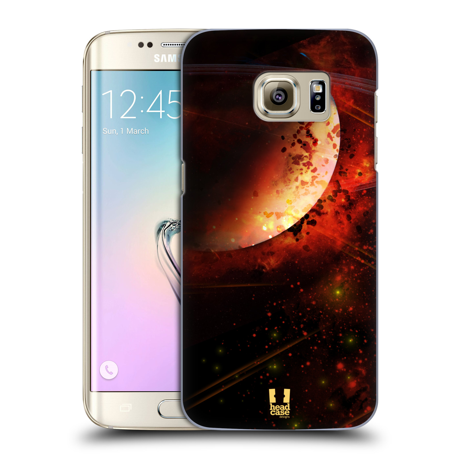 Plastové pouzdro na mobil Samsung Galaxy S7 Edge HEAD CASE SATURN (Kryt či obal na mobilní telefon Samsung Galaxy S7 Edge SM-G935F)