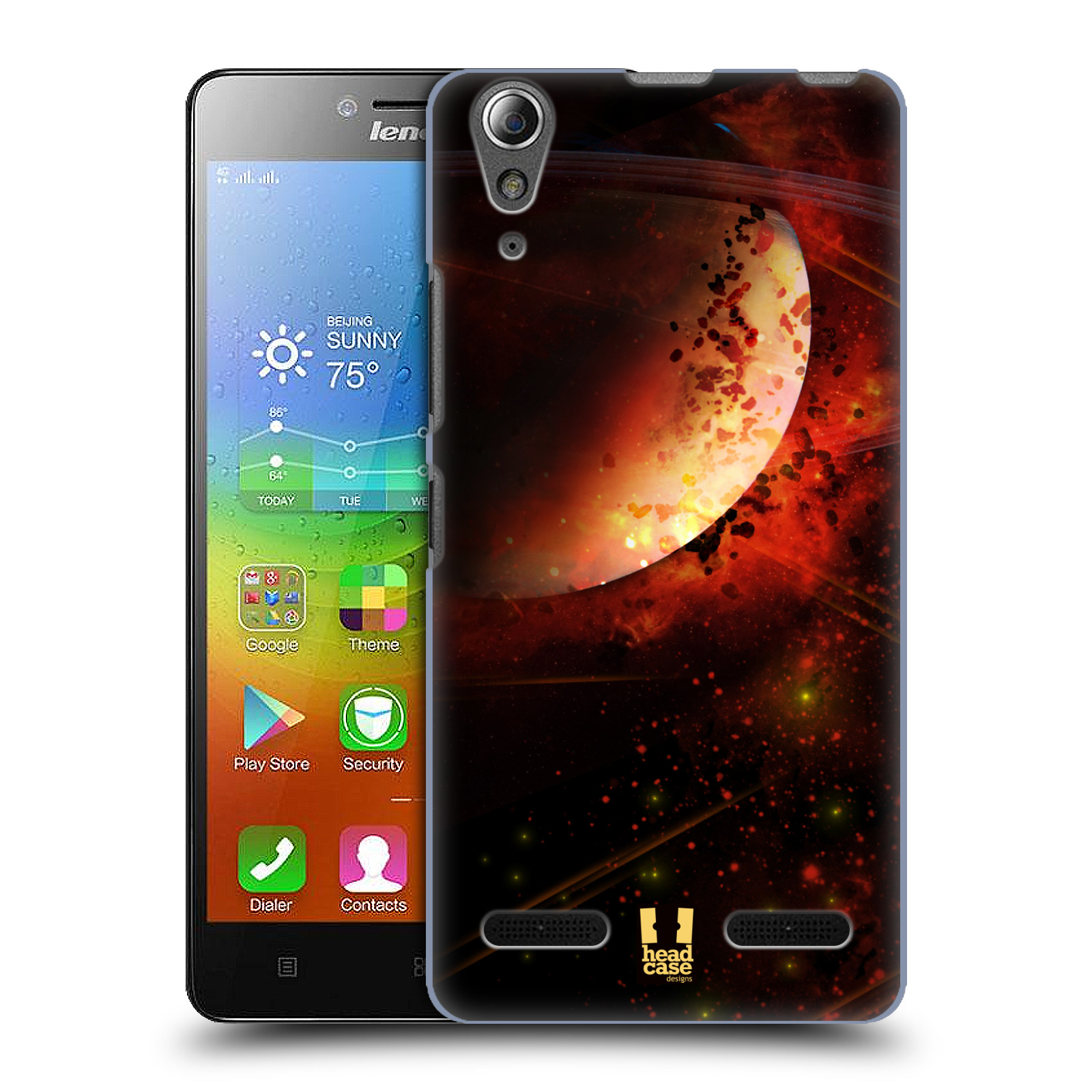 Plastové pouzdro na mobil Lenovo A6000 HEAD CASE SATURN (Kryt či obal na mobilní telefon Lenovo A6000 / A6000 Plus)