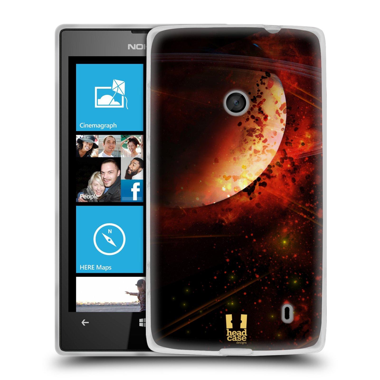 Silikonové pouzdro na mobil Nokia Lumia 520 HEAD CASE SATURN (Silikonový Kryt či obal na mobilní telefon Nokia Lumia 520)