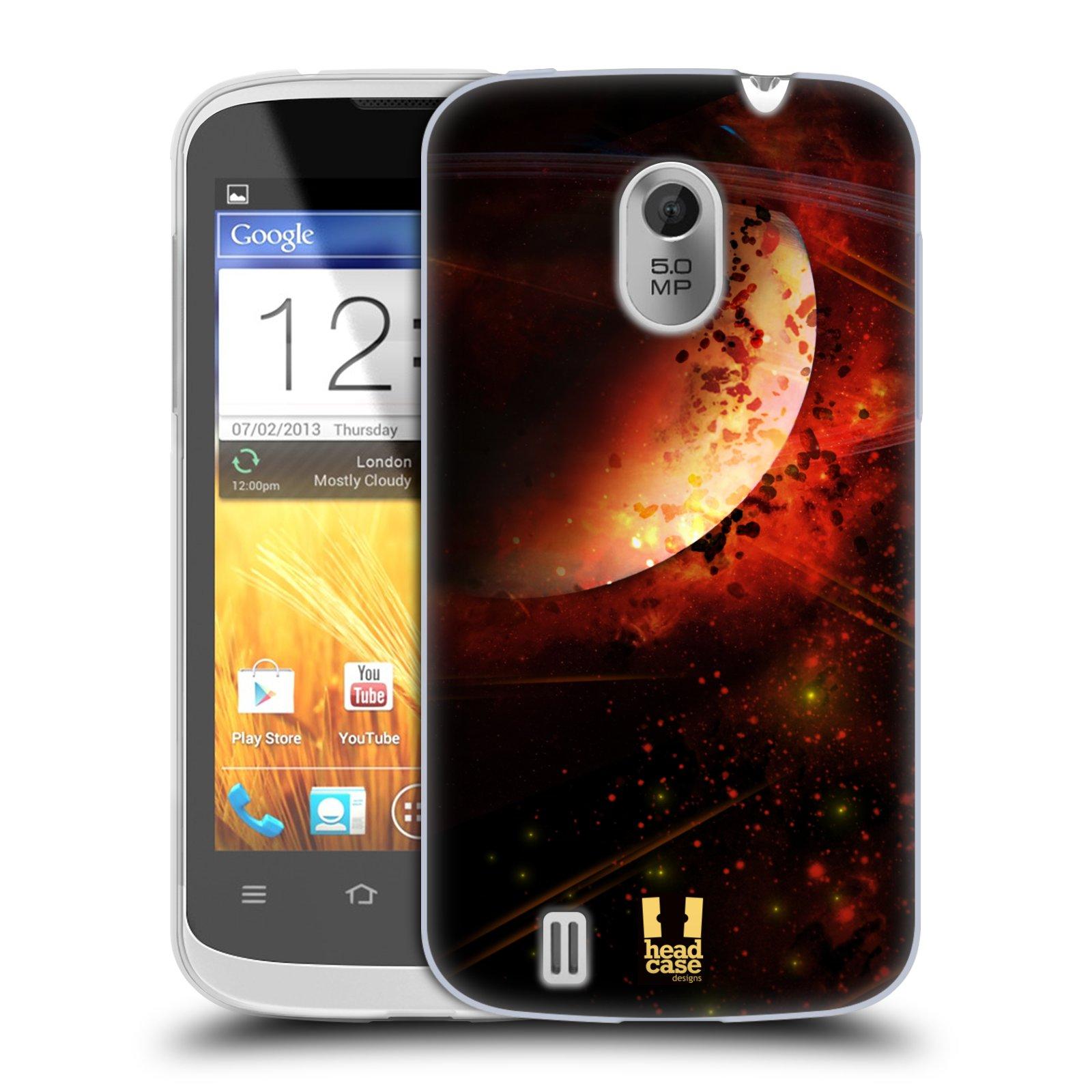Silikonové pouzdro na mobil ZTE Blade III HEAD CASE SATURN (Silikonový kryt či obal na mobilní telefon ZTE Blade 3)