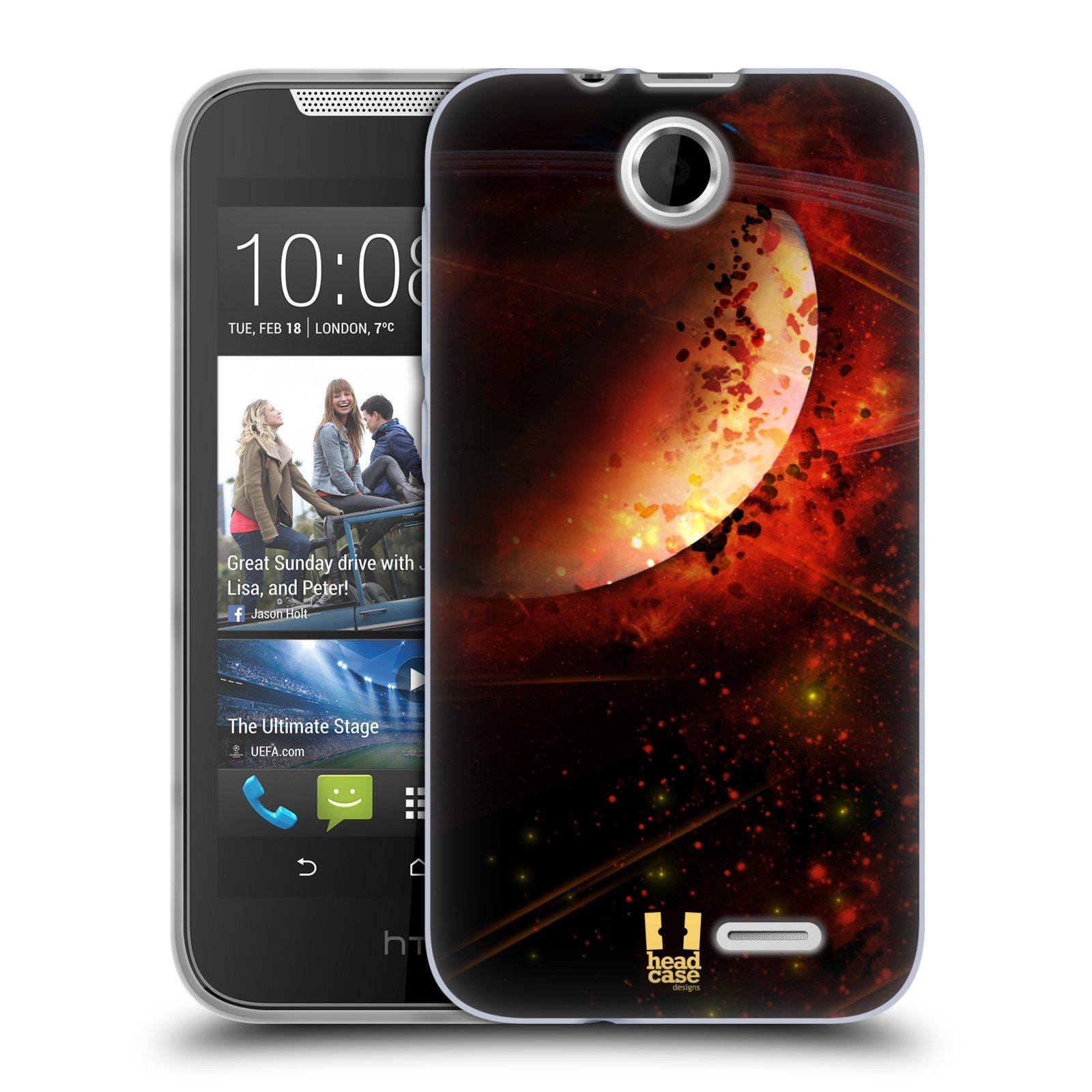 Silikonové pouzdro na mobil HTC Desire 310 HEAD CASE SATURN (Silikonový kryt či obal na mobilní telefon HTC Desire 310)