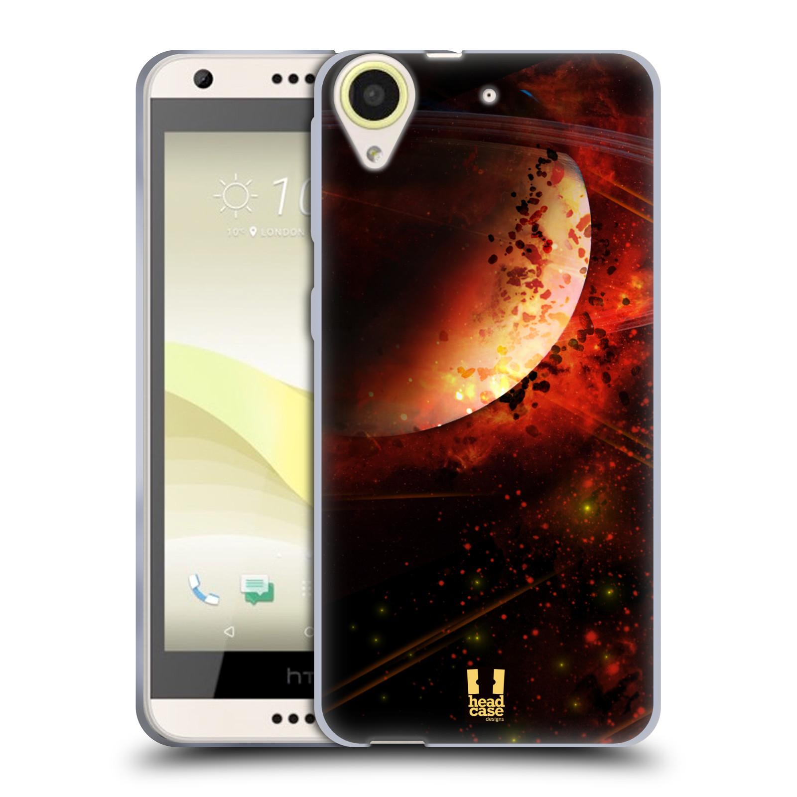 Silikonové pouzdro na mobil HTC Desire 650 HEAD CASE SATURN (Silikonový kryt či obal na mobilní telefon HTC Desire 650)