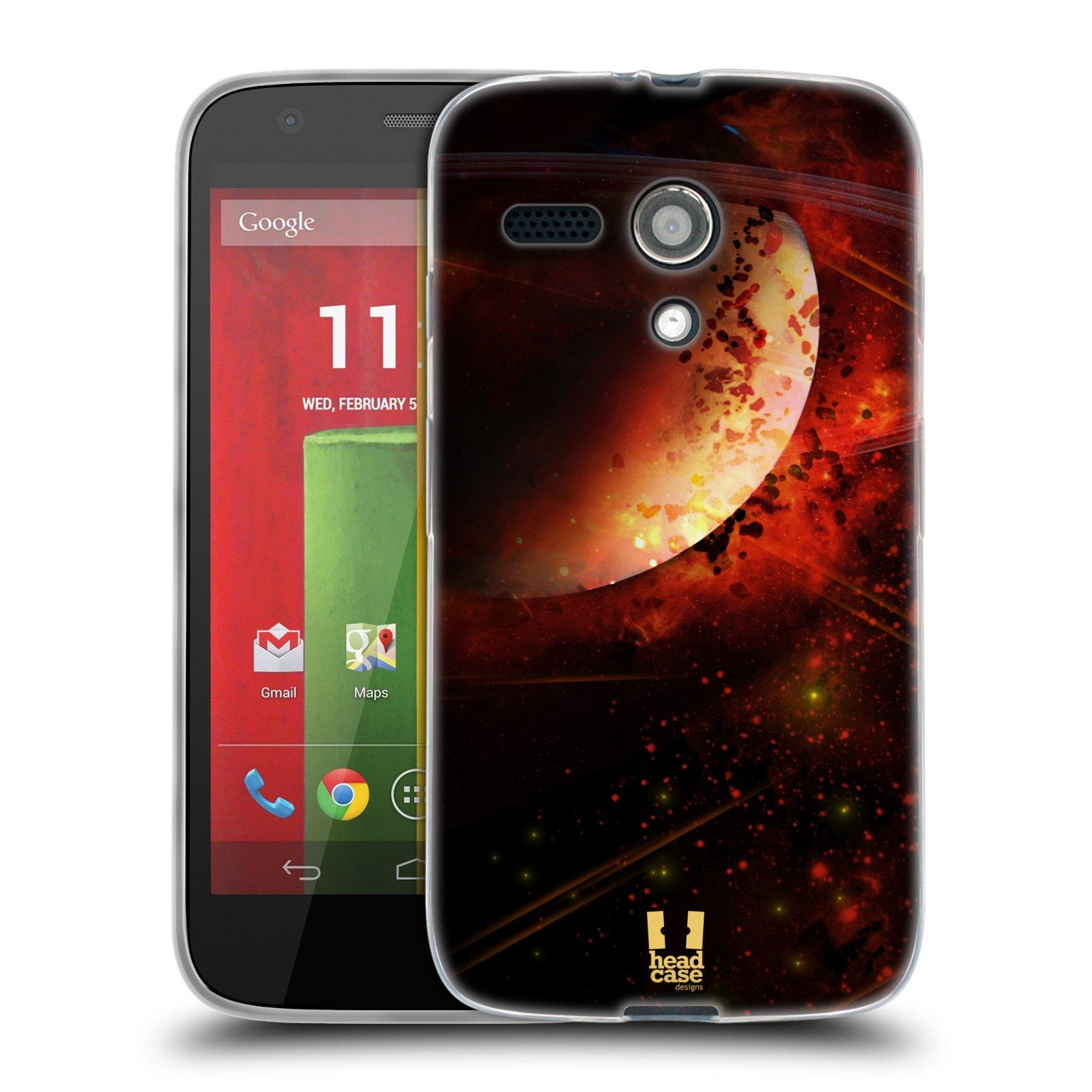 Silikonové pouzdro na mobil Motorola Moto G HEAD CASE SATURN (Silikonový kryt či obal na mobilní telefon Motorola Moto G)