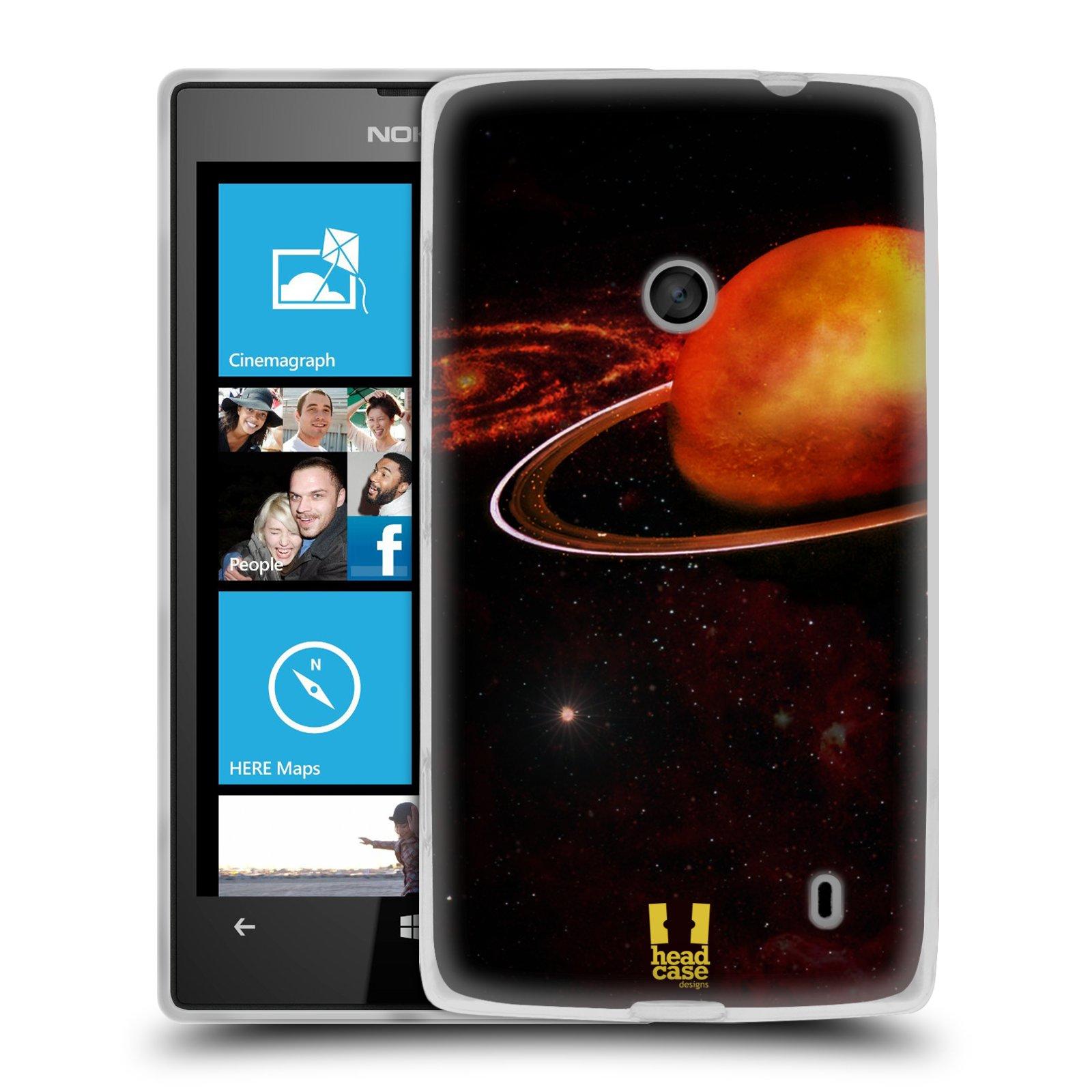 Silikonové pouzdro na mobil Nokia Lumia 520 HEAD CASE URAN (Silikonový Kryt či obal na mobilní telefon Nokia Lumia 520)