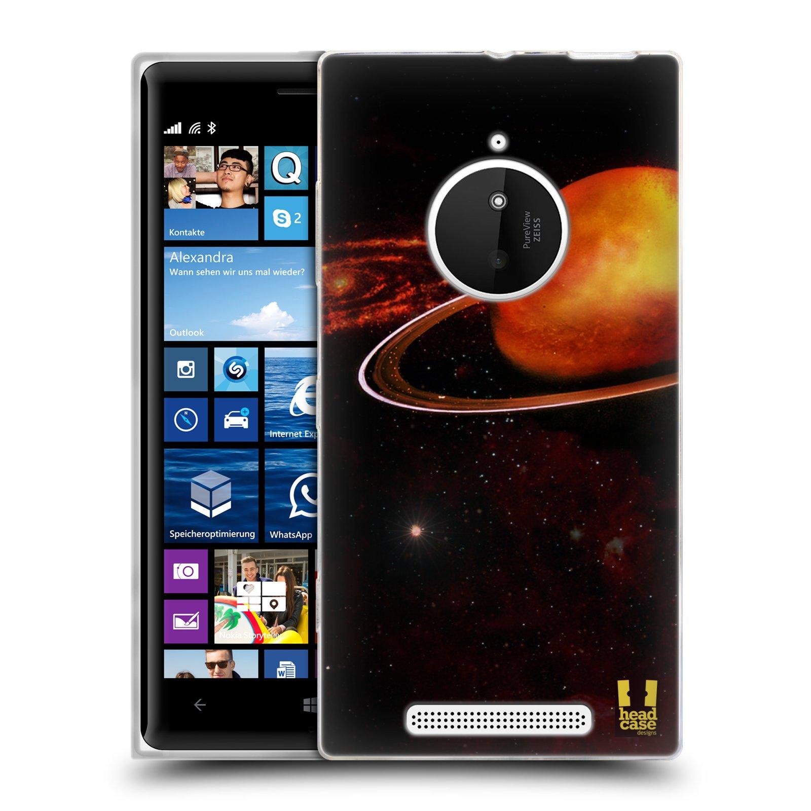 Silikonové pouzdro na mobil Nokia Lumia 830 HEAD CASE URAN (Silikonový kryt či obal na mobilní telefon Nokia Lumia 830)