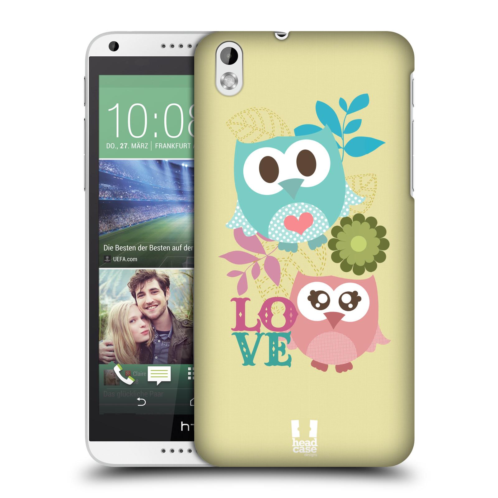 Plastové pouzdro na mobil HTC Desire 816 HEAD CASE SOVIČKY LOVE (Kryt či obal na mobilní telefon HTC Desire 816)