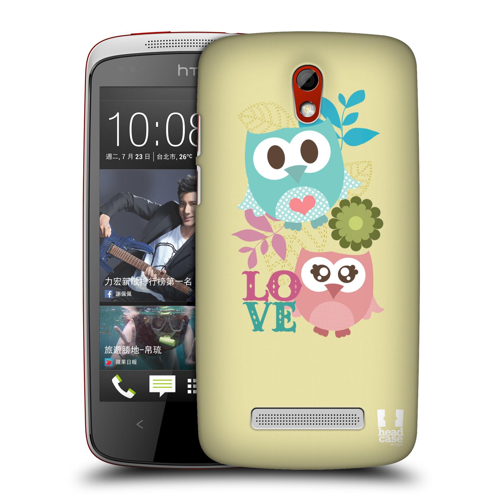 Plastové pouzdro na mobil HTC Desire 500 HEAD CASE SOVIČKY LOVE (Kryt či obal na mobilní telefon HTC Desire 500)