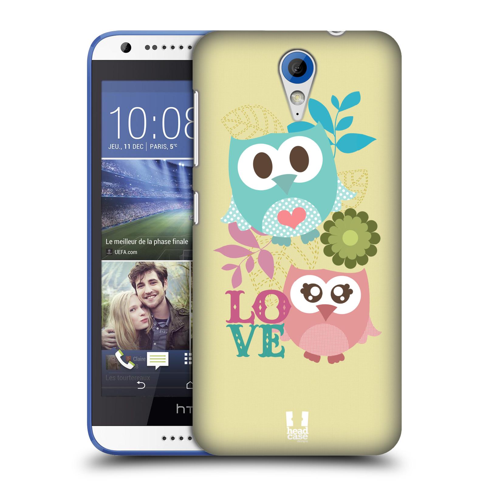 Plastové pouzdro na mobil HTC Desire 620 HEAD CASE SOVIČKY LOVE (Kryt či obal na mobilní telefon HTC Desire 620)