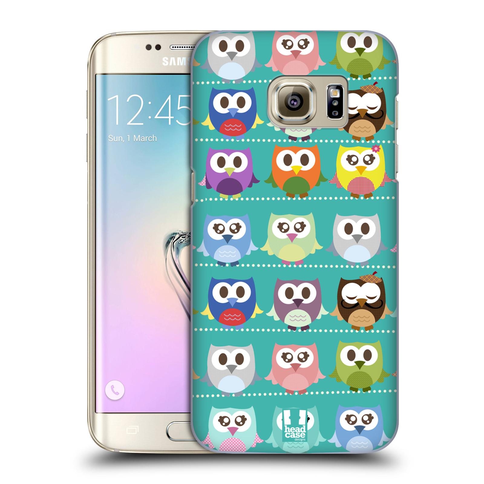 Plastové pouzdro na mobil Samsung Galaxy S7 Edge HEAD CASE SOVIČKY ZELENÉ (Kryt či obal na mobilní telefon Samsung Galaxy S7 Edge SM-G935F)