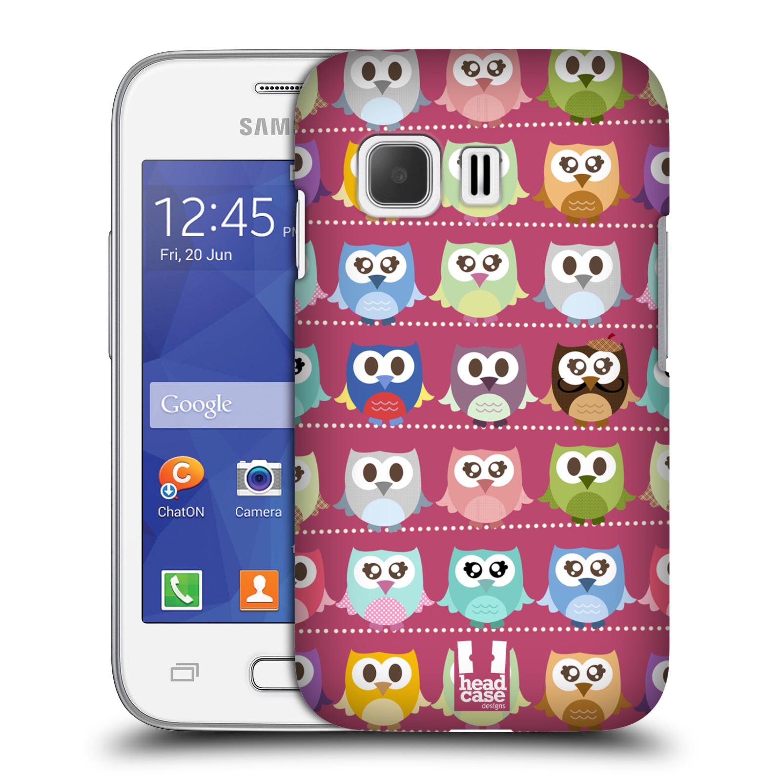 Plastové pouzdro na mobil Samsung Galaxy Young 2 HEAD CASE SOVIČKY RŮŽOVÉ