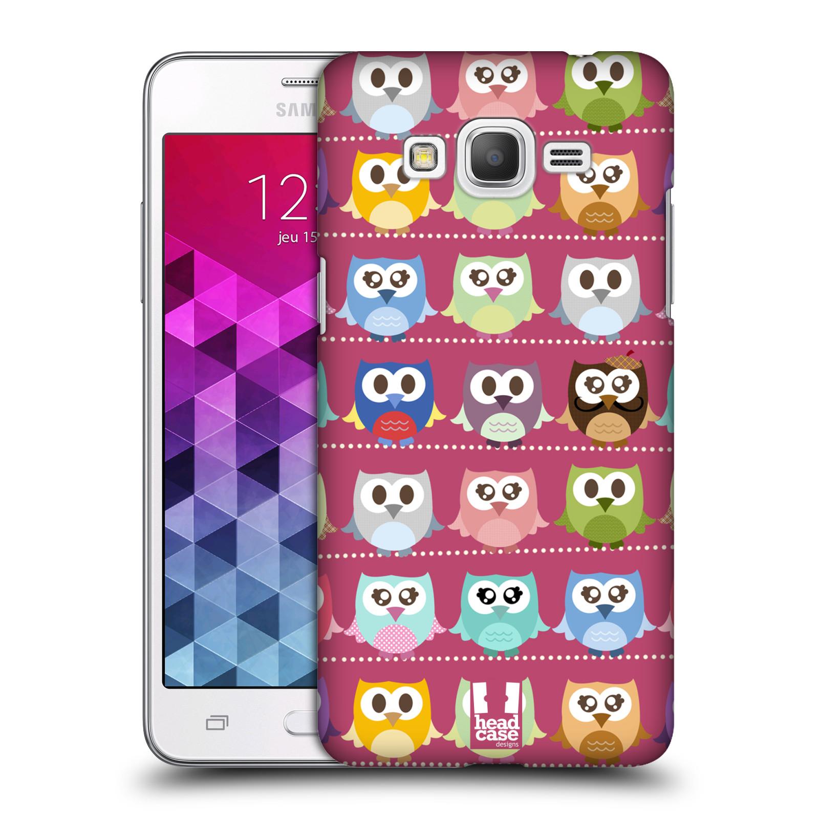 Plastové pouzdro na mobil Samsung Galaxy Grand Prime VE HEAD CASE SOVIČKY RŮŽOVÉ