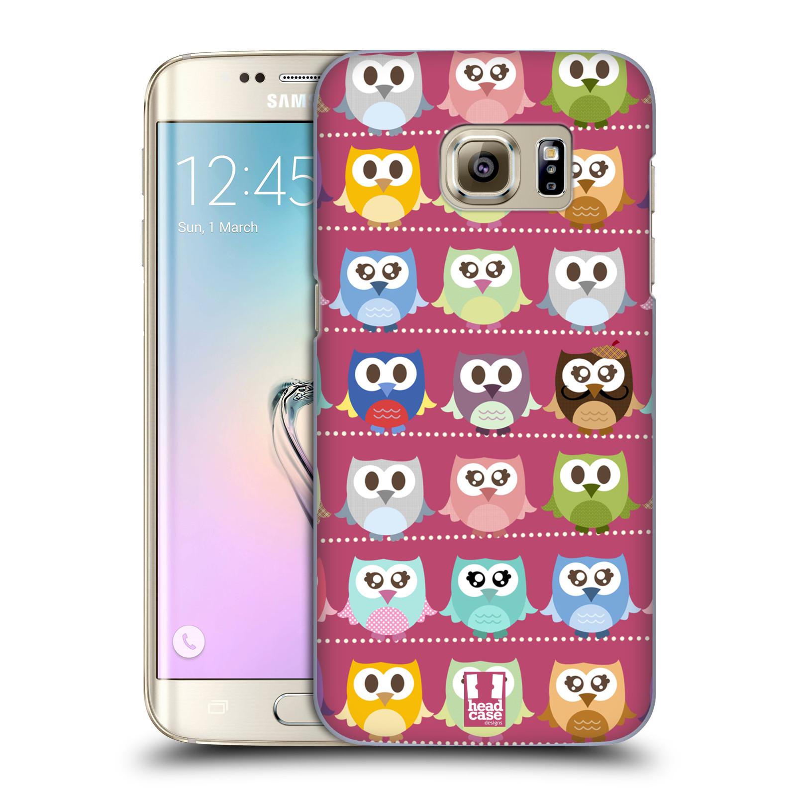 Plastové pouzdro na mobil Samsung Galaxy S7 Edge HEAD CASE SOVIČKY RŮŽOVÉ (Kryt či obal na mobilní telefon Samsung Galaxy S7 Edge SM-G935F)
