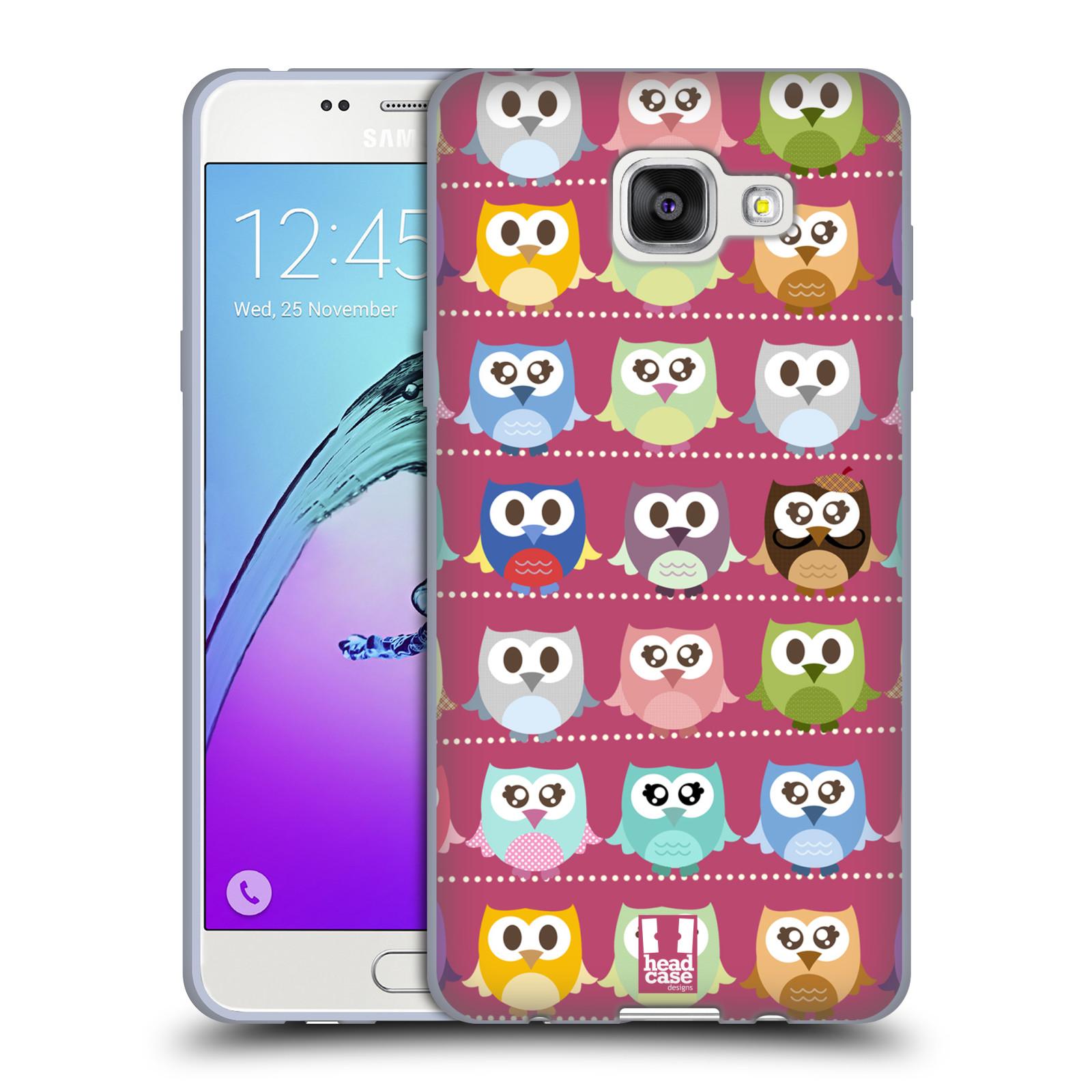 Silikonové pouzdro na mobil Samsung Galaxy A5 (2016) HEAD CASE SOVIČKY RŮŽOVÉ
