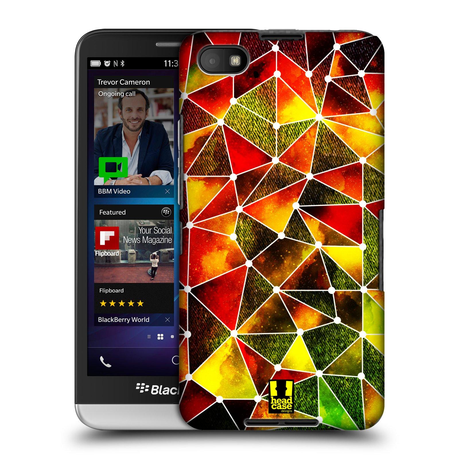 Plastové pouzdro na mobil Blackberry Z30 HEAD CASE PATTERN GEOMETRIC RASTA (Kryt či obal na mobilní telefon Blackberry Z30)