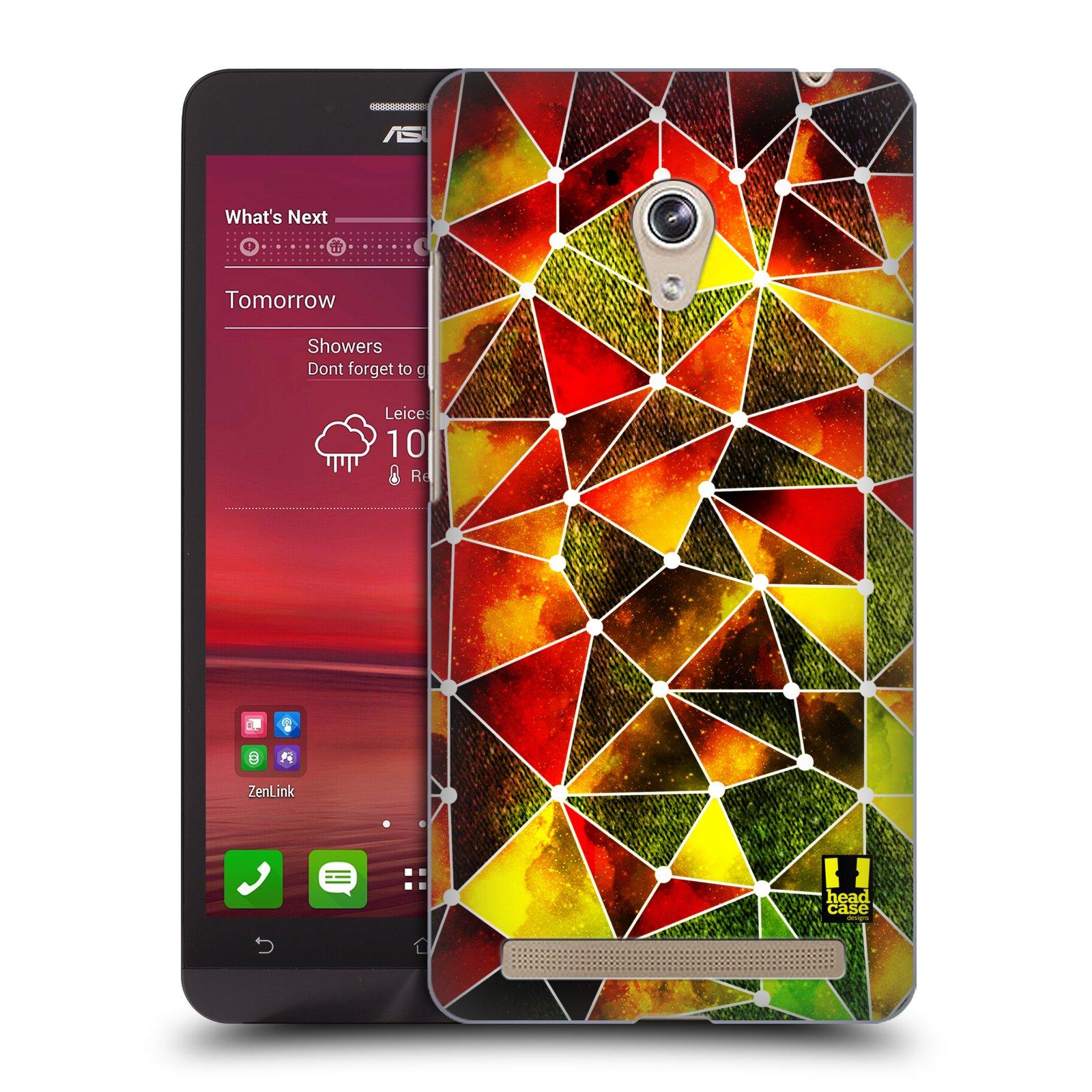 Plastové pouzdro na mobil Asus Zenfone 6 HEAD CASE PATTERN GEOMETRIC RASTA (Kryt či obal na mobilní telefon Asus Zenfone 6 A600CG / A601CG)
