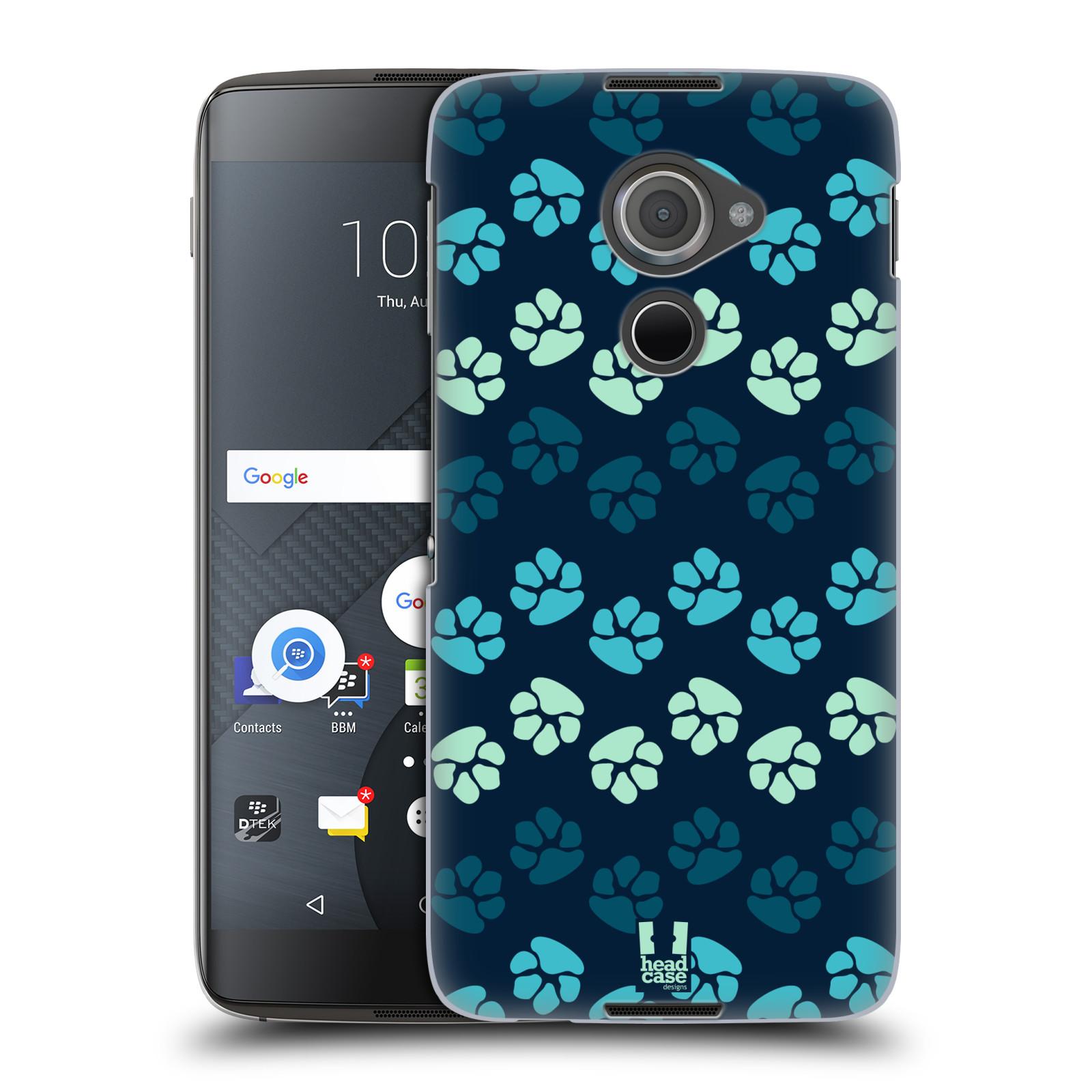 Plastové pouzdro na mobil Blackberry DTEK60 (Argon) - Head Case TLAPKY MODRÉ (Plastový kryt či obal na mobilní telefon Blackberry DTEK60 (Argon))