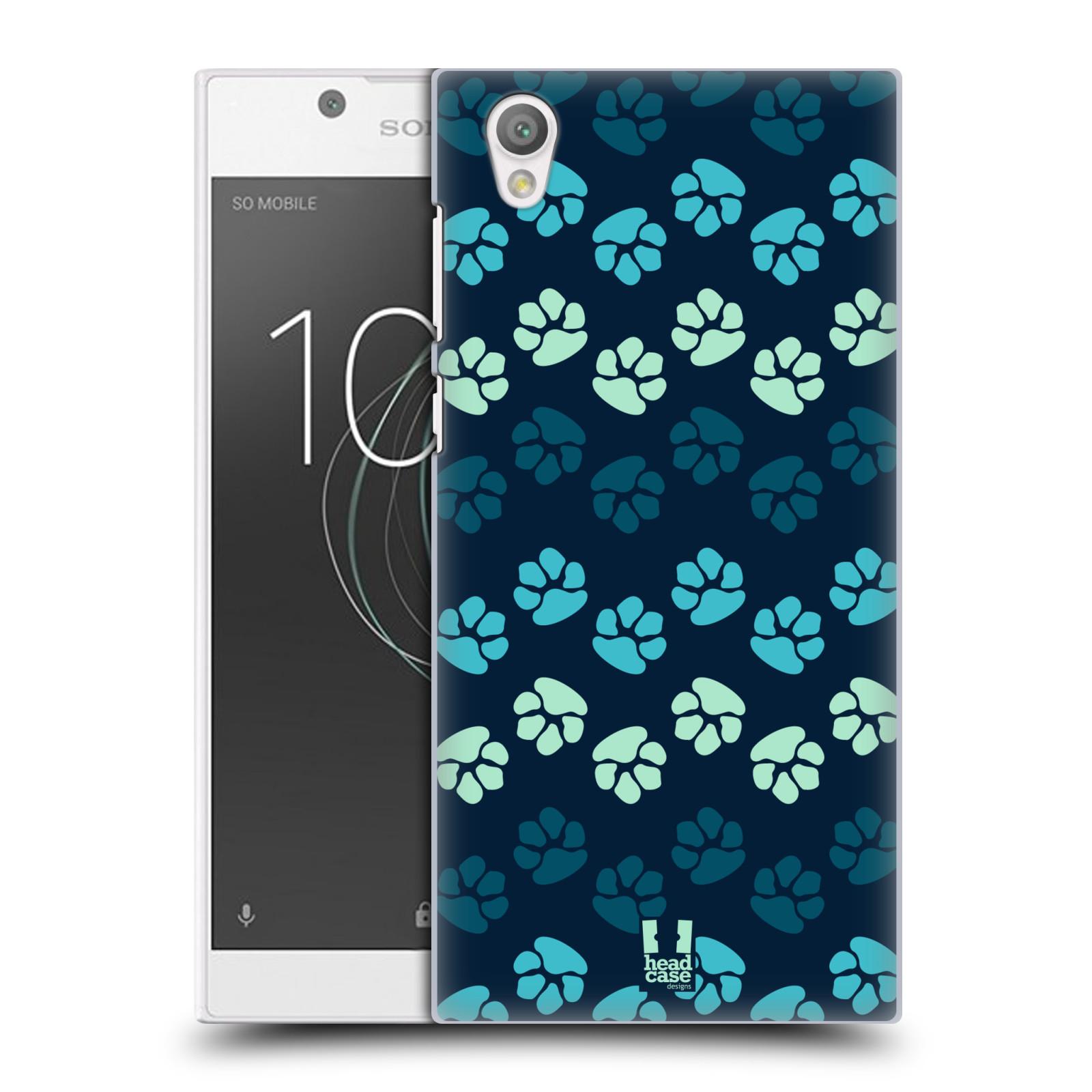 Plastové pouzdro na mobil Sony Xperia L1 - Head Case - TLAPKY MODRÉ (Plastový kryt či obal na mobilní telefon Sony Xperia L1 G3311 s motivem TLAPKY MODRÉ)