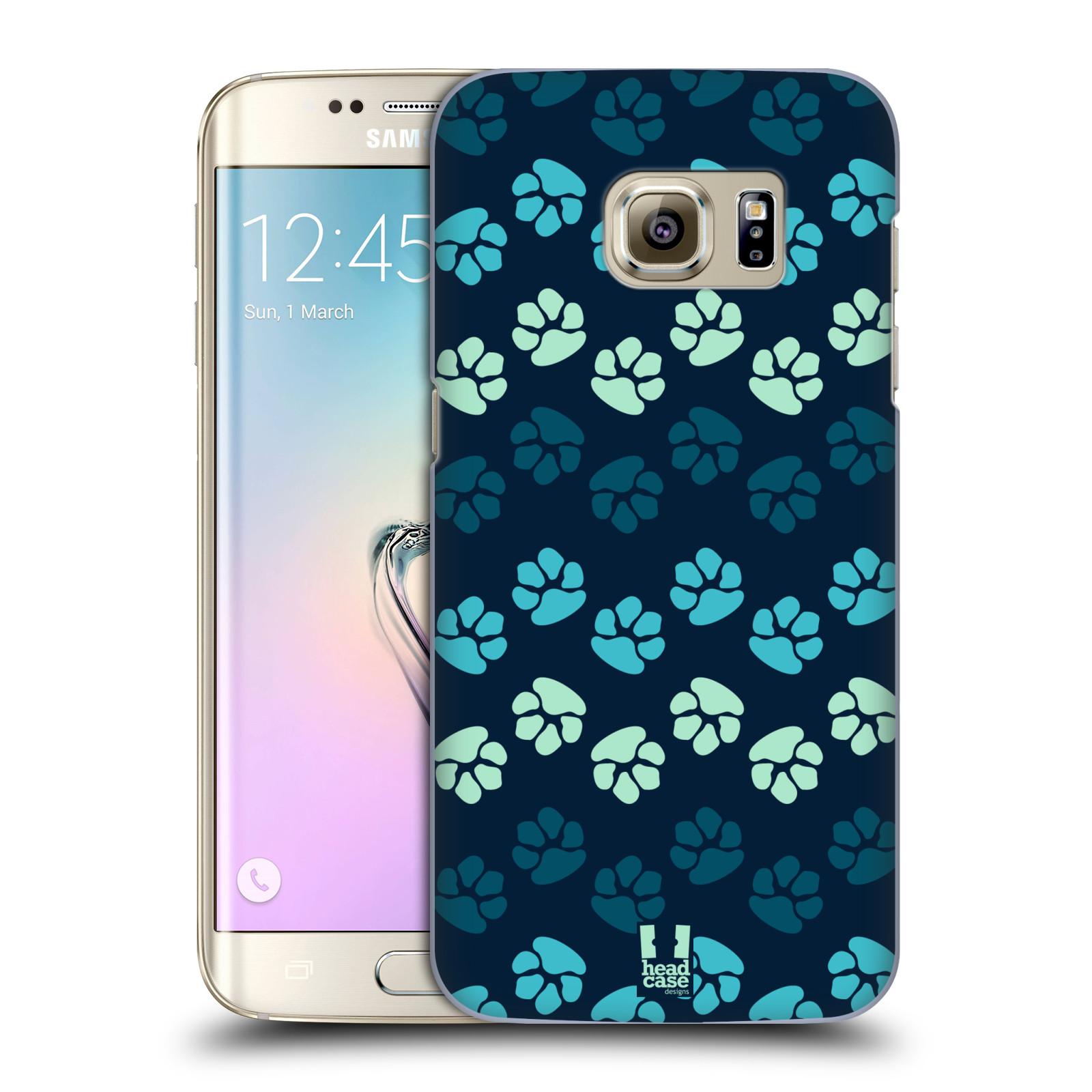 Plastové pouzdro na mobil Samsung Galaxy S7 Edge HEAD CASE TLAPKY MODRÉ (Kryt či obal na mobilní telefon Samsung Galaxy S7 Edge SM-G935F)