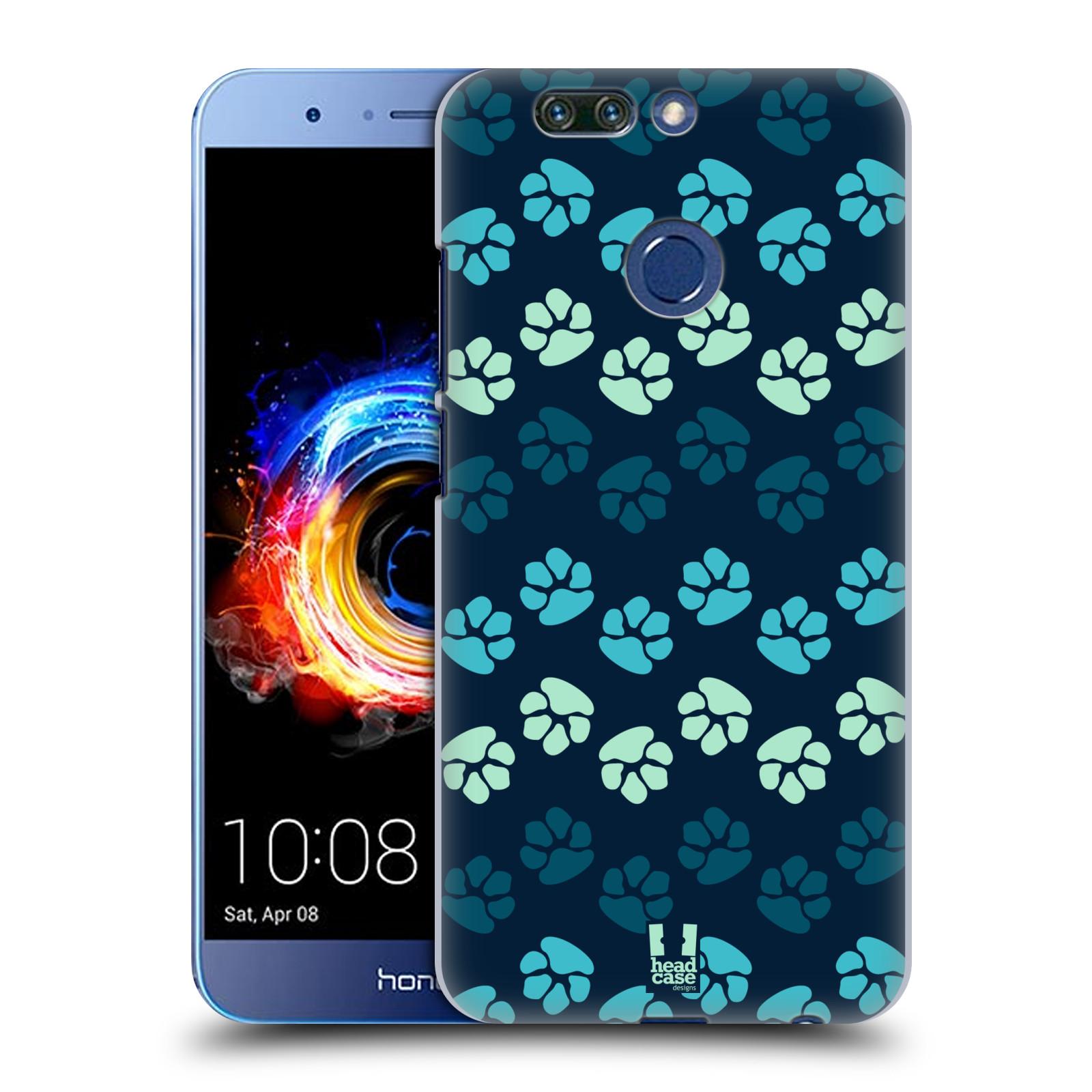 Plastové pouzdro na mobil Honor 8 Pro - Head Case - TLAPKY MODRÉ (Plastový kryt či obal na mobilní telefon Honor 8 Pro s motivem TLAPKY MODRÉ)