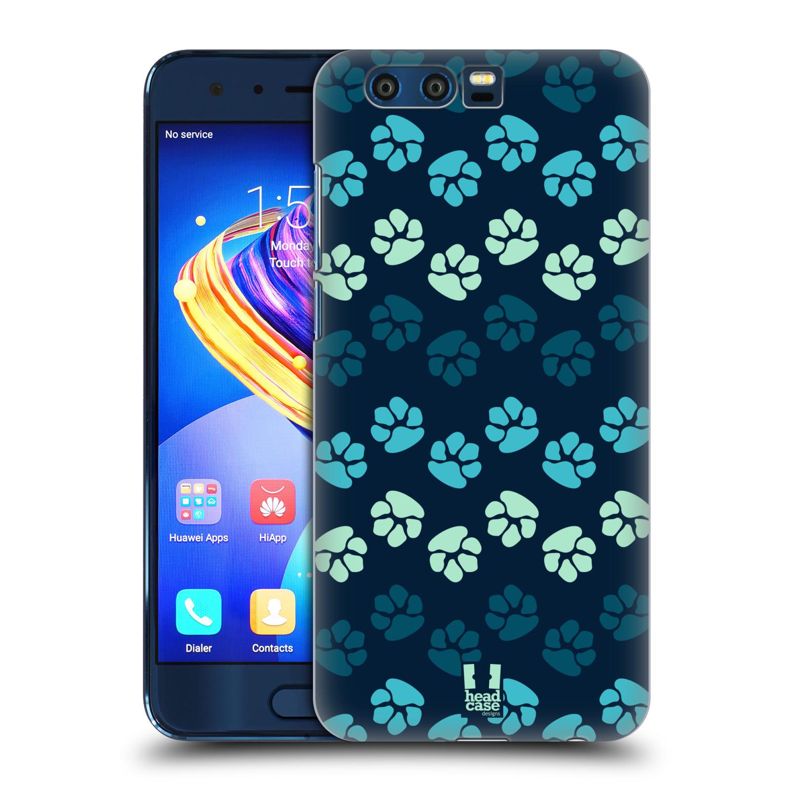 Plastové pouzdro na mobil Honor 9 - Head Case - TLAPKY MODRÉ (Plastový kryt či obal na mobilní telefon Honor 9 s motivem TLAPKY MODRÉ)