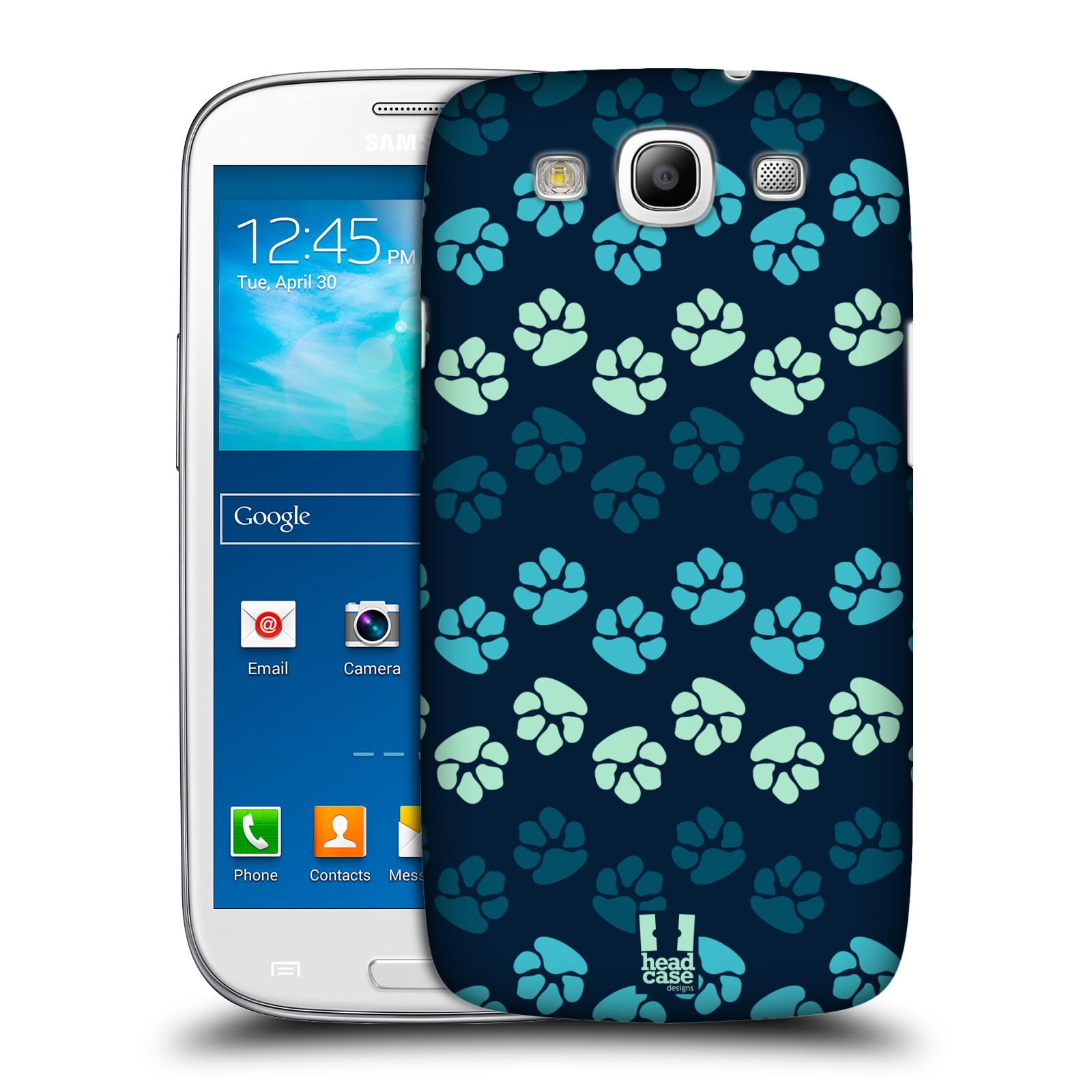 Plastové pouzdro na mobil Samsung Galaxy S3 Neo HEAD CASE TLAPKY MODRÉ