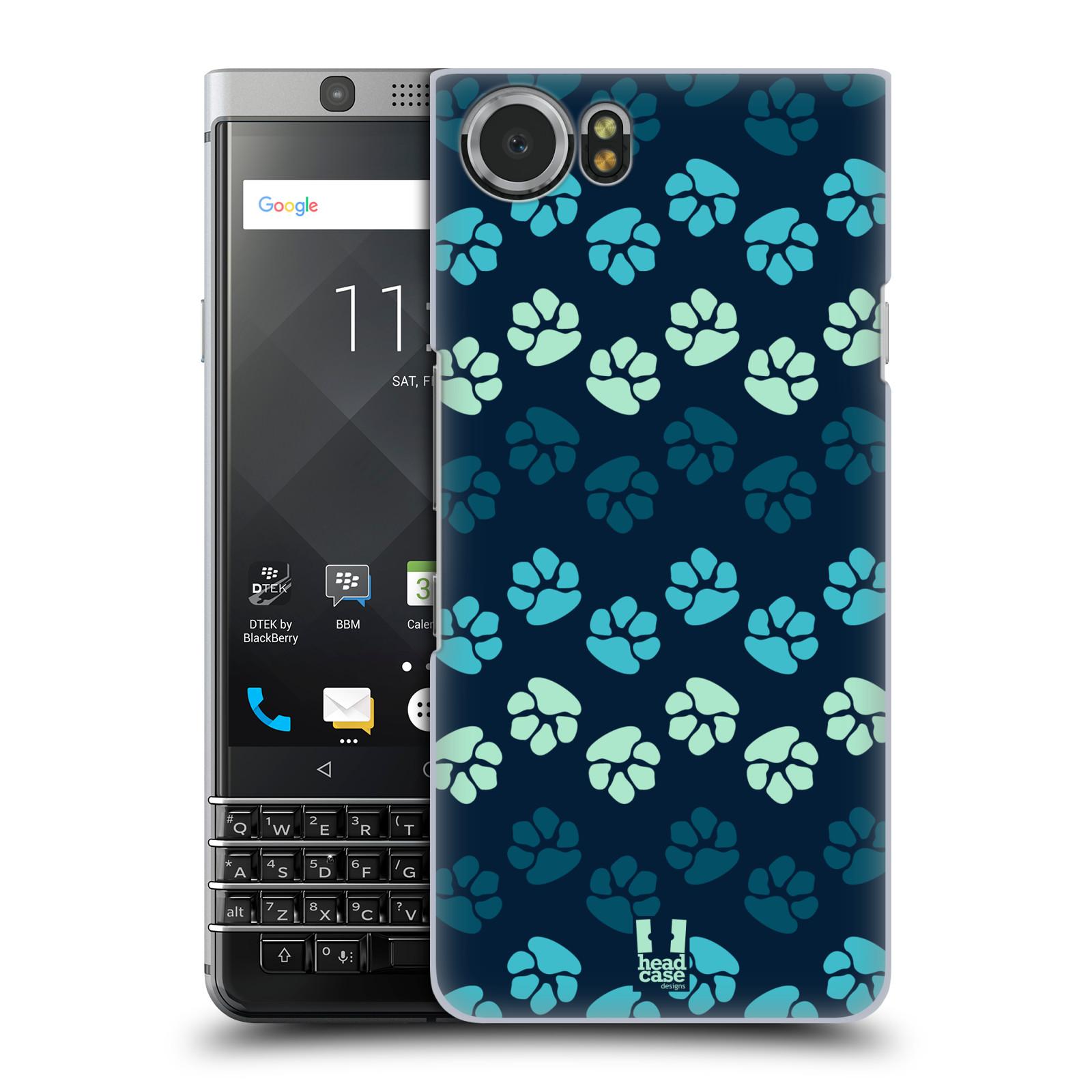 Plastové pouzdro na mobil BlackBerry KEYone - Head Case - TLAPKY MODRÉ (Plastový kryt či obal na mobilní telefon BlackBerry KEYone s motivem TLAPKY MODRÉ)