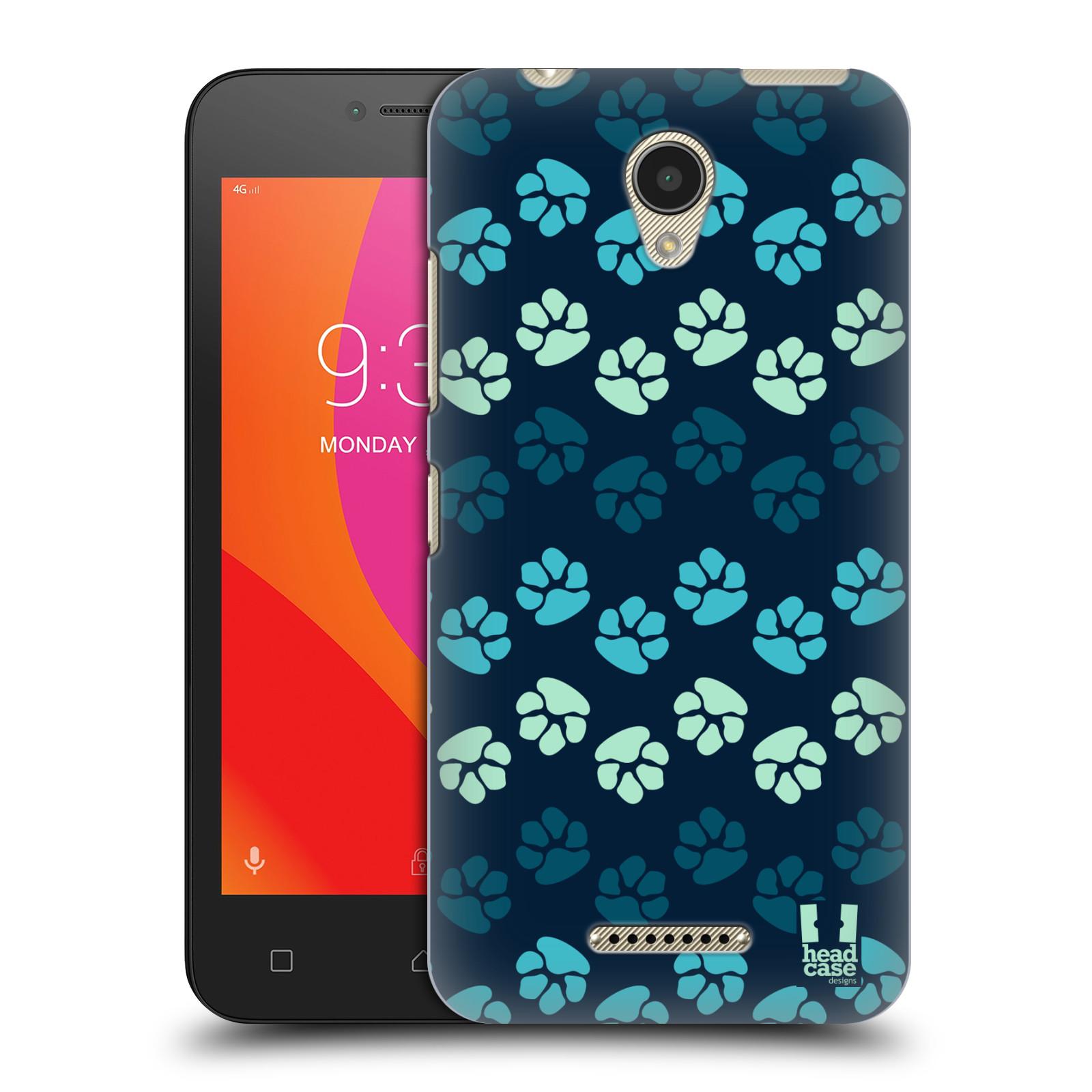 Plastové pouzdro na mobil Lenovo B - Head Case - TLAPKY MODRÉ (Plastový kryt či obal na mobilní telefon Lenovo B s motivem TLAPKY MODRÉ)