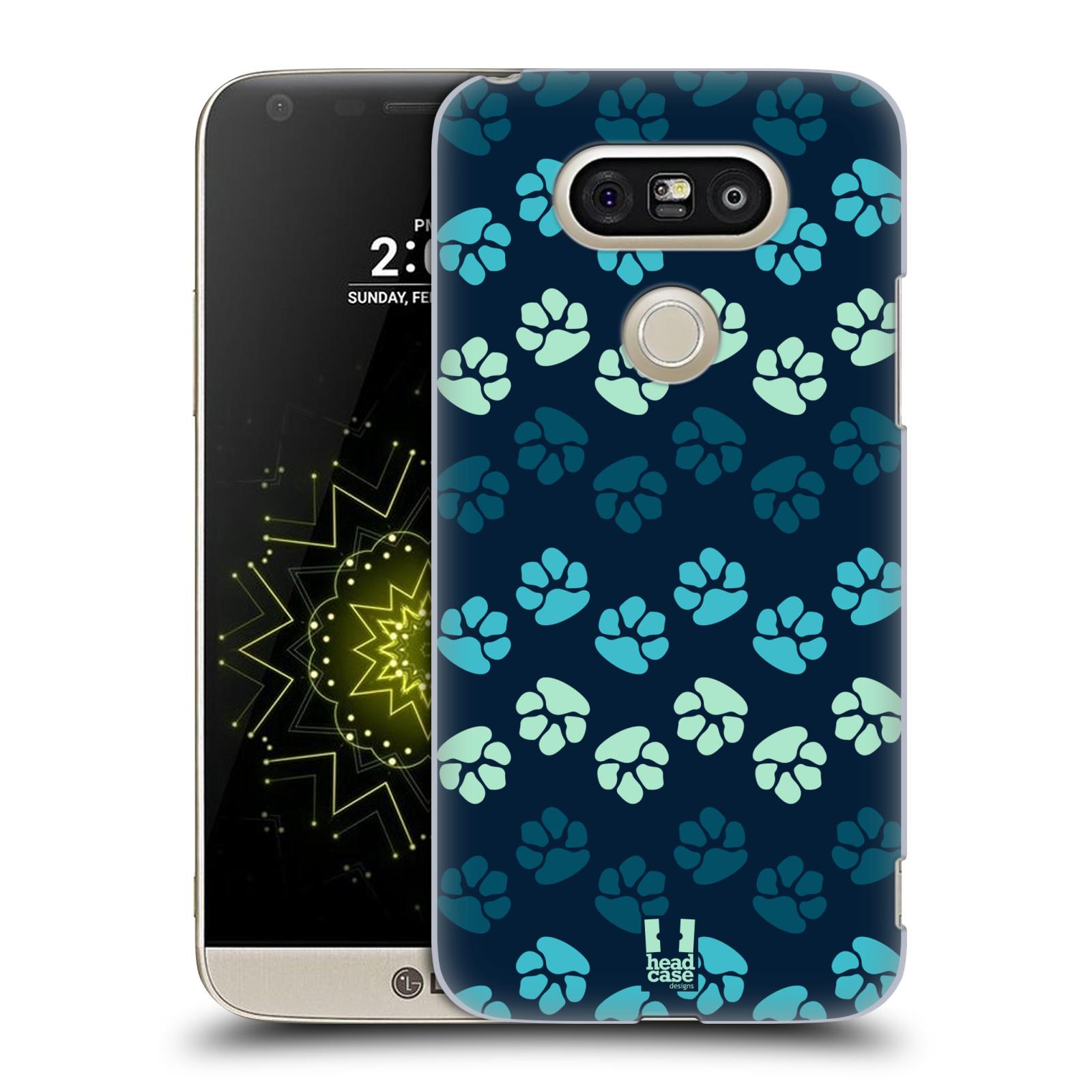 Plastové pouzdro na mobil LG G5 SE - Head Case - TLAPKY MODRÉ (Plastový kryt či obal na mobilní telefon LG G5 SE H840 s motivem TLAPKY MODRÉ)