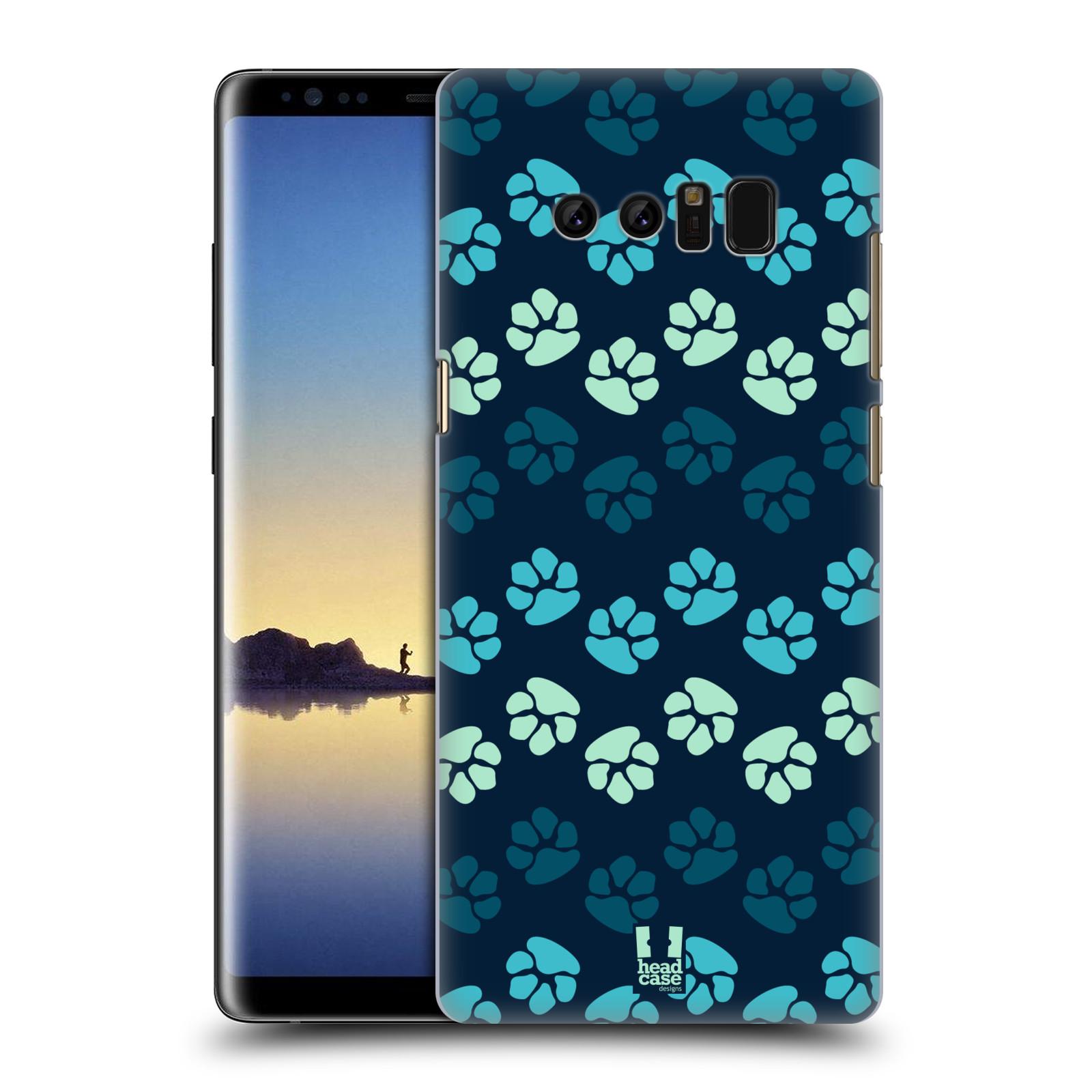 Plastové pouzdro na mobil Samsung Galaxy Note 8 - Head Case - TLAPKY MODRÉ (Plastový kryt či obal na mobilní telefon Samsung Galaxy Note 8 SM-N950 s motivem TLAPKY MODRÉ)