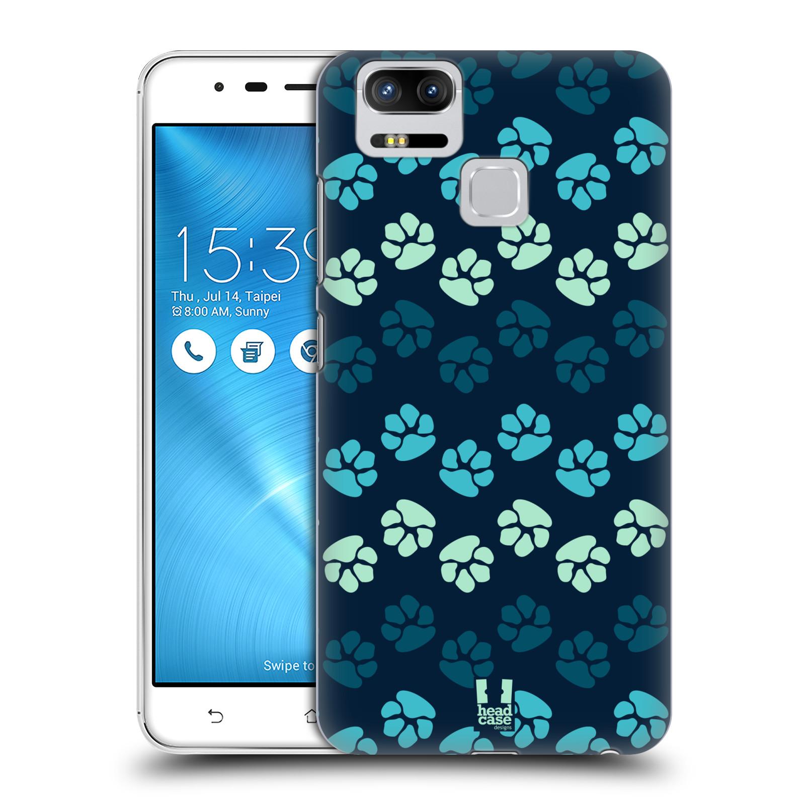 Plastové pouzdro na mobil Asus ZenFone 3 ZOOM ZE553KL - Head Case - TLAPKY MODRÉ (Plastový kryt či obal na mobilní telefon Asus ZenFone 3 ZOOM ZE553KL s motivem TLAPKY MODRÉ)