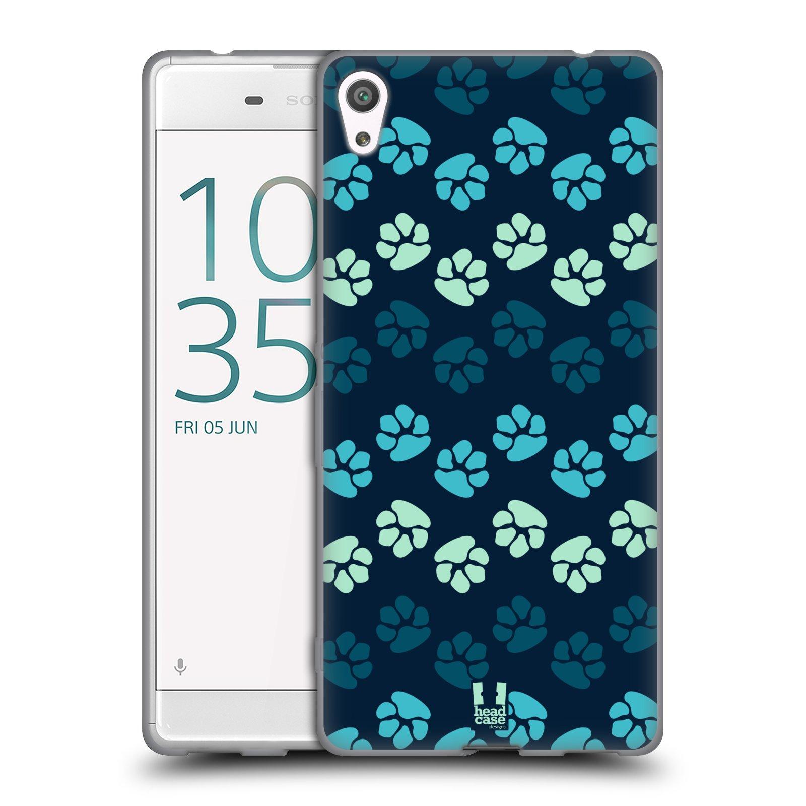 Silikonové pouzdro na mobil Sony Xperia XA Ultra HEAD CASE TLAPKY MODRÉ