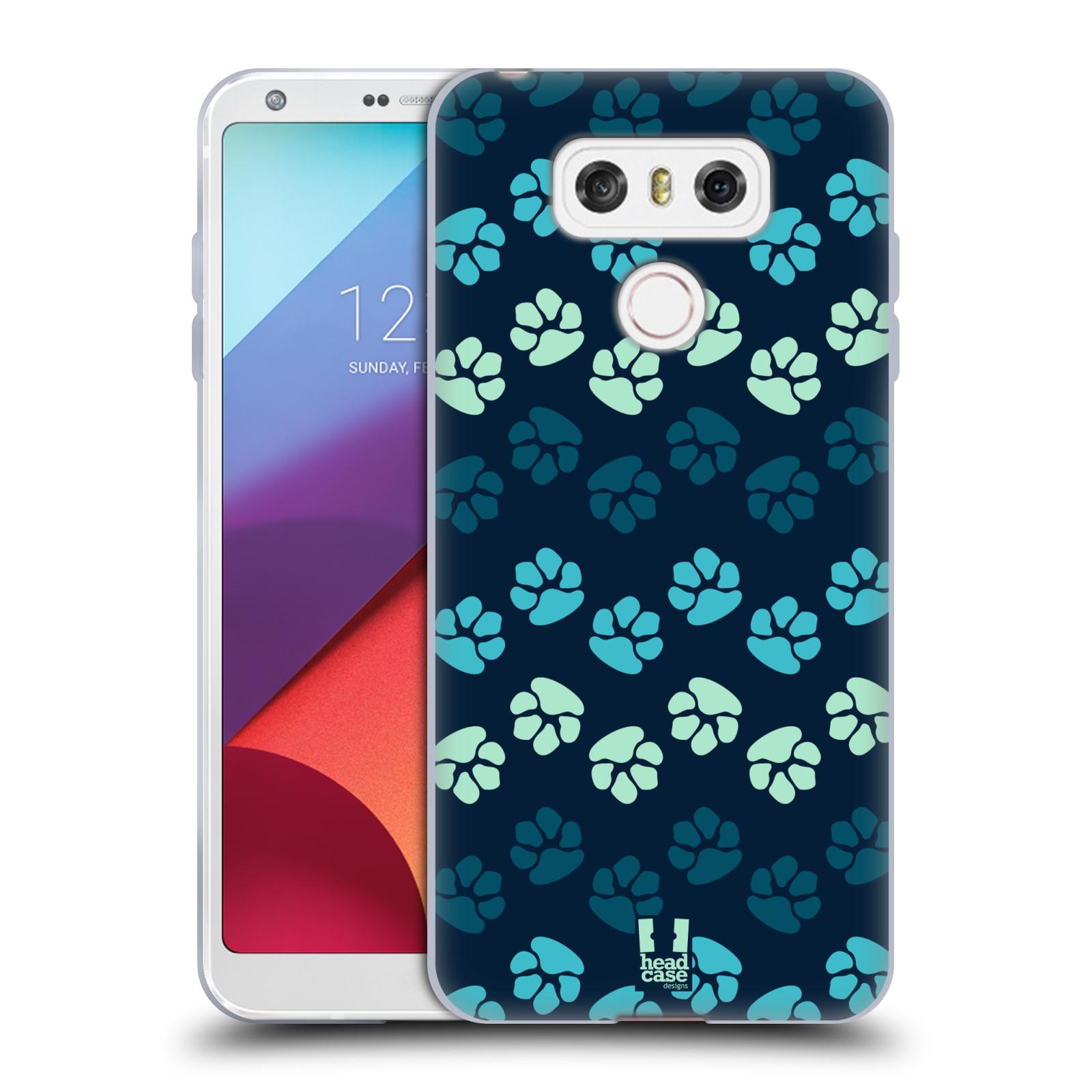 Silikonové pouzdro na mobil LG G6 - Head Case TLAPKY MODRÉ (Silikonový kryt či obal na mobilní telefon LG G6 H870 / LG G6 Dual SIM H870DS)