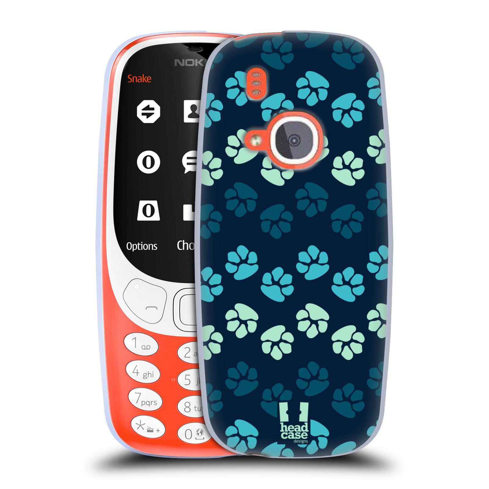 Silikonové pouzdro na mobil Nokia 3310 - Head Case - TLAPKY MODRÉ (Silikonový kryt či obal na mobilní telefon Nokia 3310 (2017) s motivem TLAPKY MODRÉ)