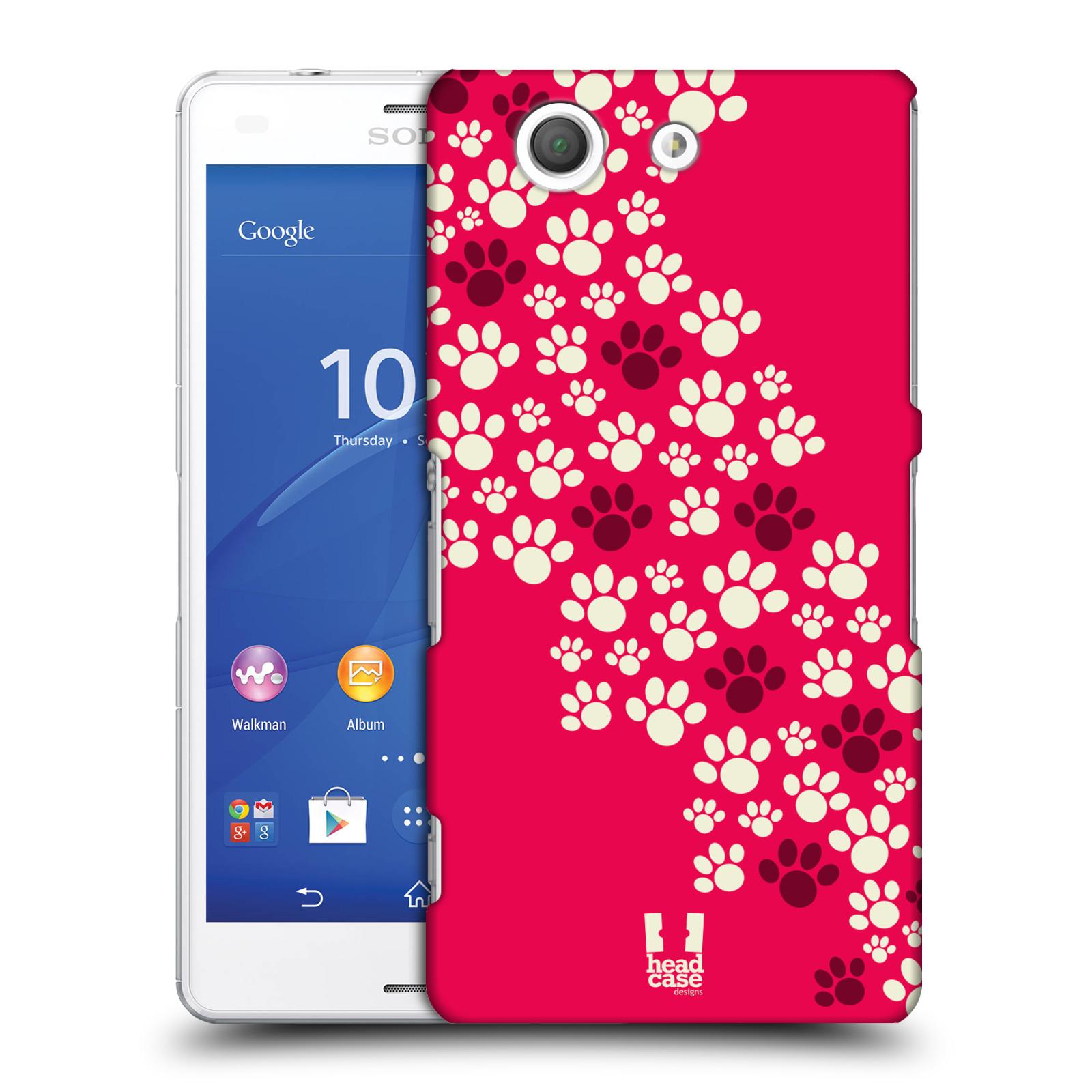 Plastové pouzdro na mobil Sony Xperia Z3 Compact D5803 HEAD CASE TLAPKY RŮŽOVÉ