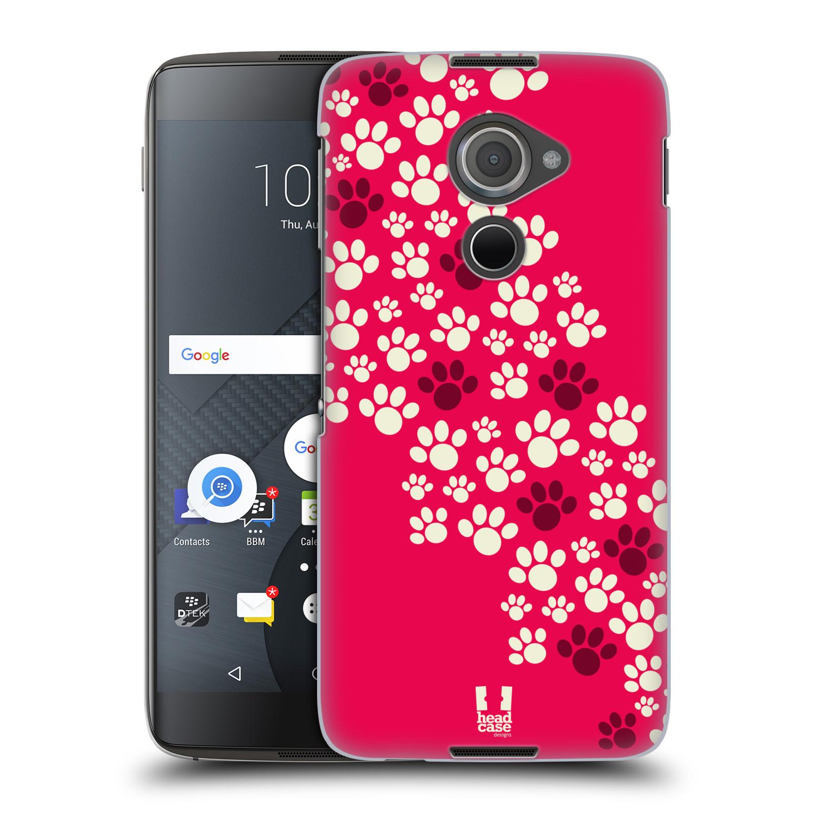 Plastové pouzdro na mobil Blackberry DTEK60 (Argon) - Head Case TLAPKY RŮŽOVÉ (Plastový kryt či obal na mobilní telefon Blackberry DTEK60 (Argon))