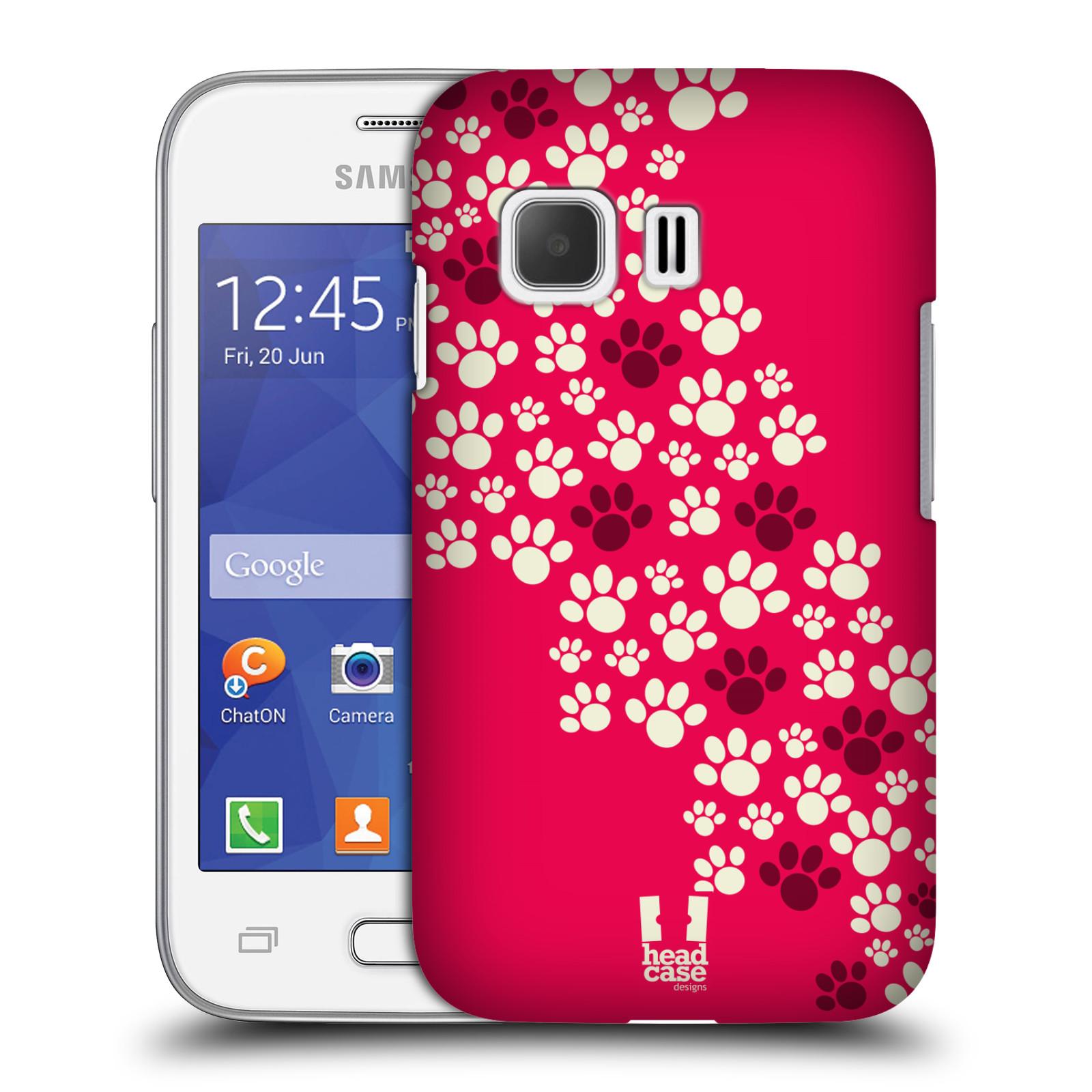 Plastové pouzdro na mobil Samsung Galaxy Young 2 HEAD CASE TLAPKY RŮŽOVÉ (Kryt či obal na mobilní telefon Samsung Galaxy Young 2 SM-G130)