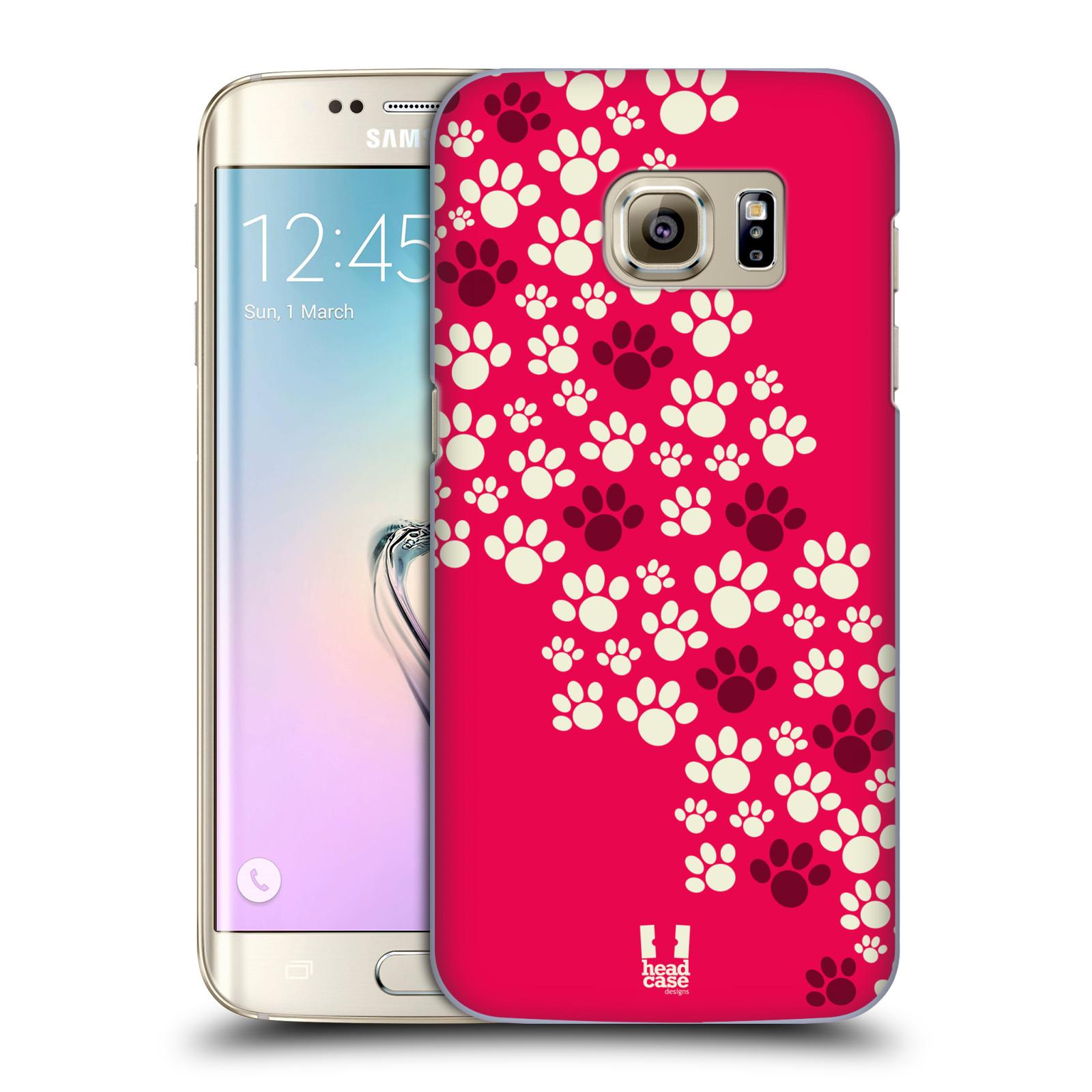 Plastové pouzdro na mobil Samsung Galaxy S7 Edge HEAD CASE TLAPKY RŮŽOVÉ (Kryt či obal na mobilní telefon Samsung Galaxy S7 Edge SM-G935F)