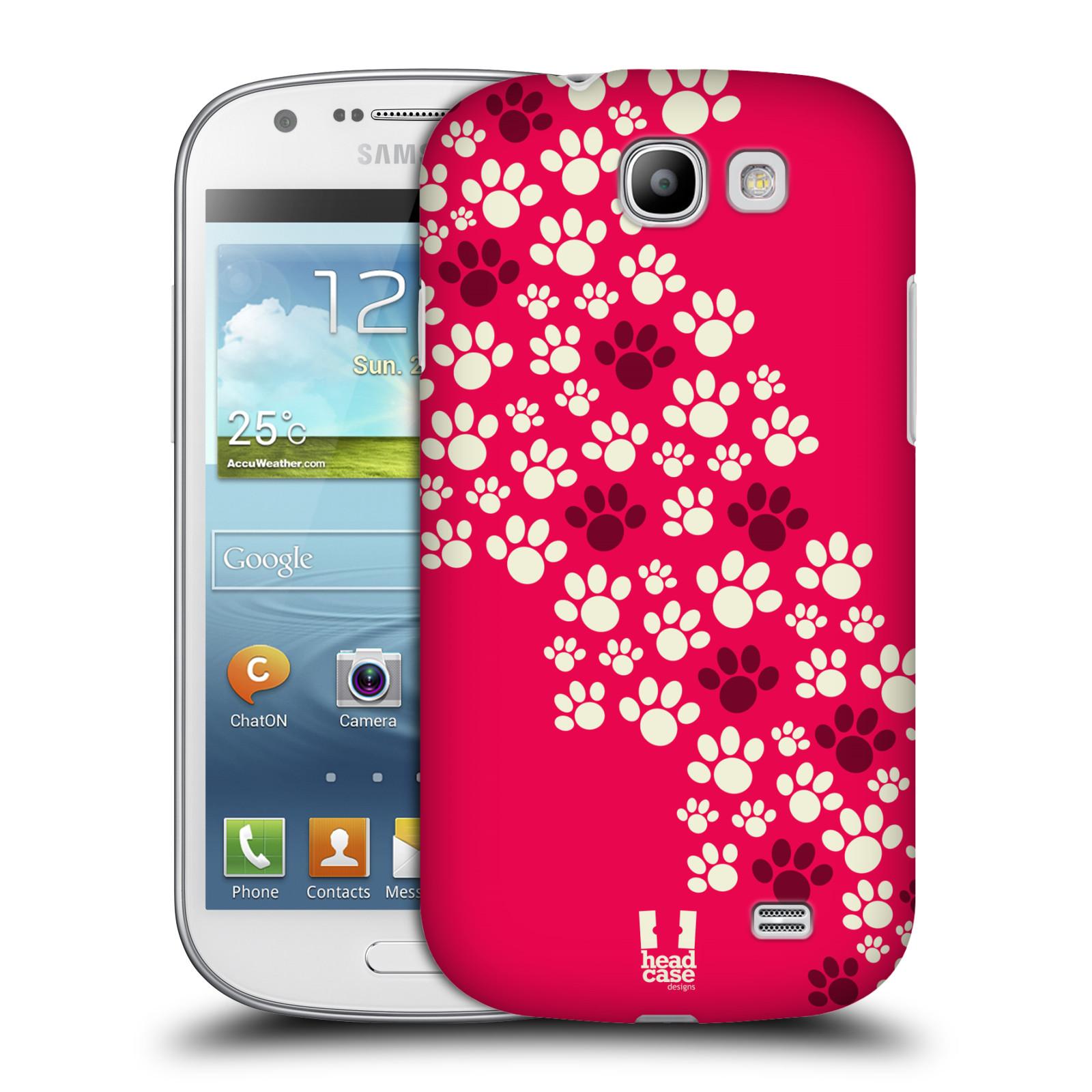 Plastové pouzdro na mobil Samsung Galaxy Express HEAD CASE TLAPKY RŮŽOVÉ (Kryt či obal na mobilní telefon Samsung Galaxy Express GT-i8730)