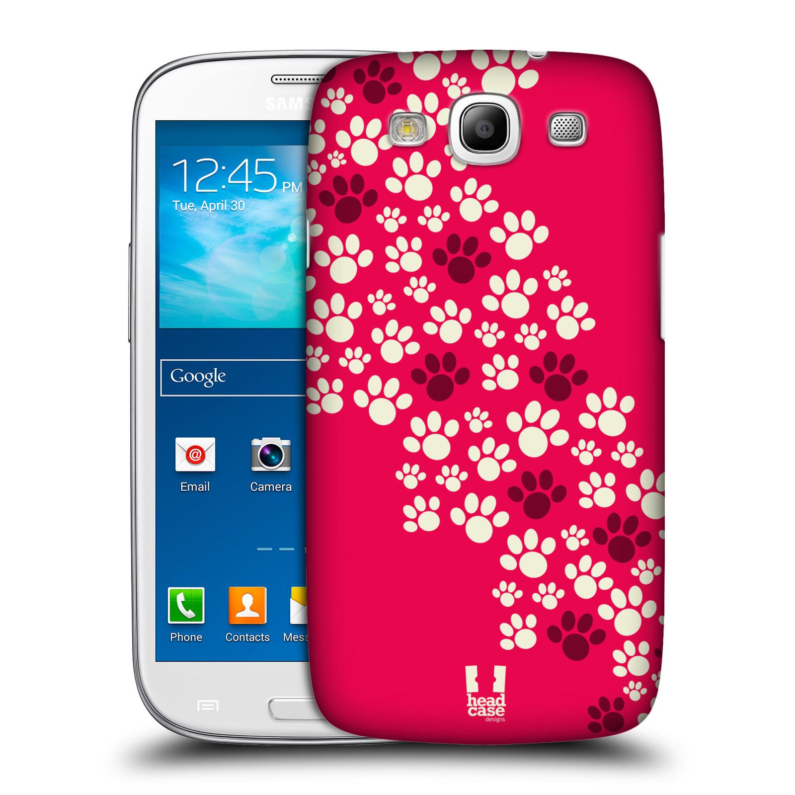 Plastové pouzdro na mobil Samsung Galaxy S3 Neo HEAD CASE TLAPKY RŮŽOVÉ