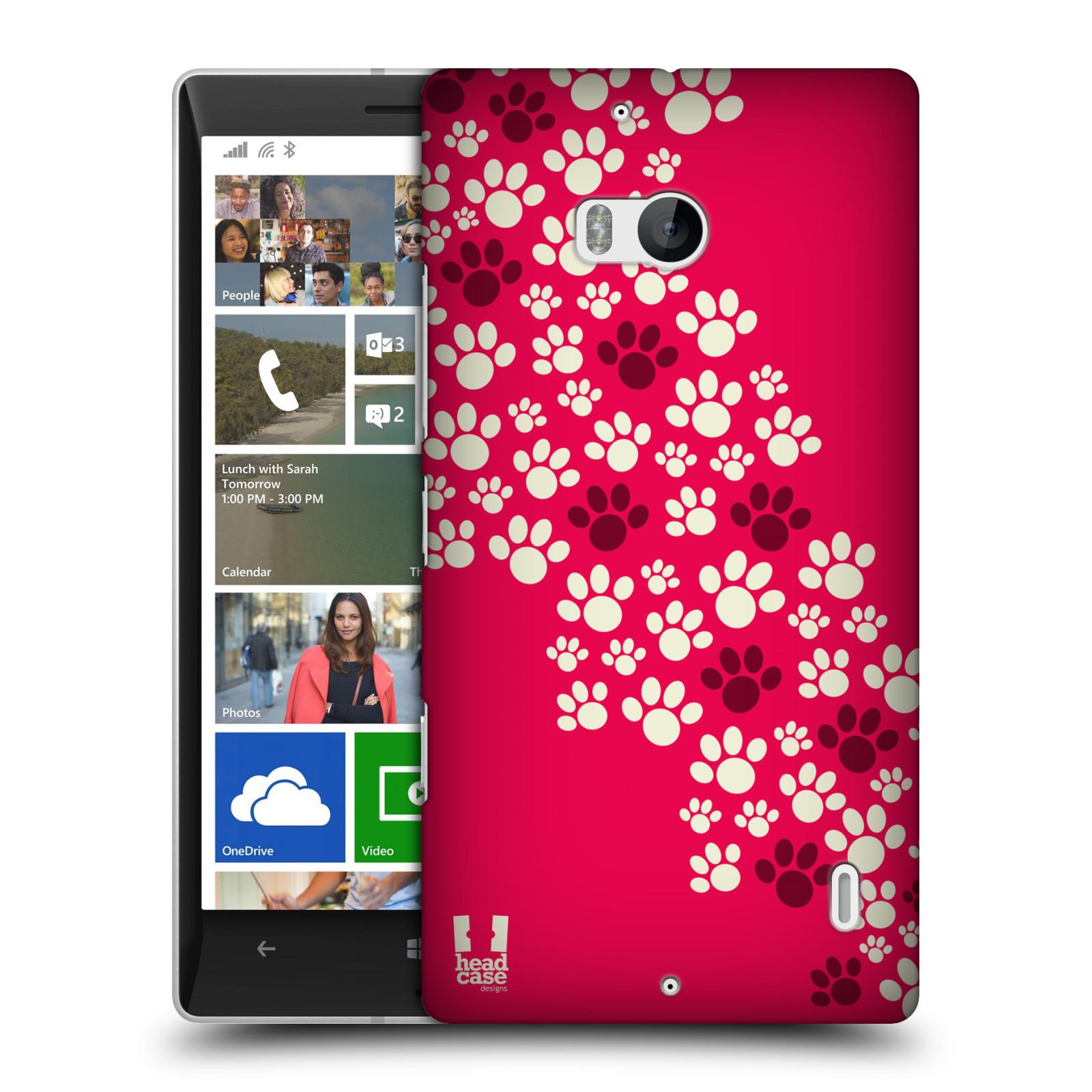 Plastové pouzdro na mobil Nokia Lumia 930 HEAD CASE TLAPKY RŮŽOVÉ (Kryt či obal na mobilní telefon Nokia Lumia 930)