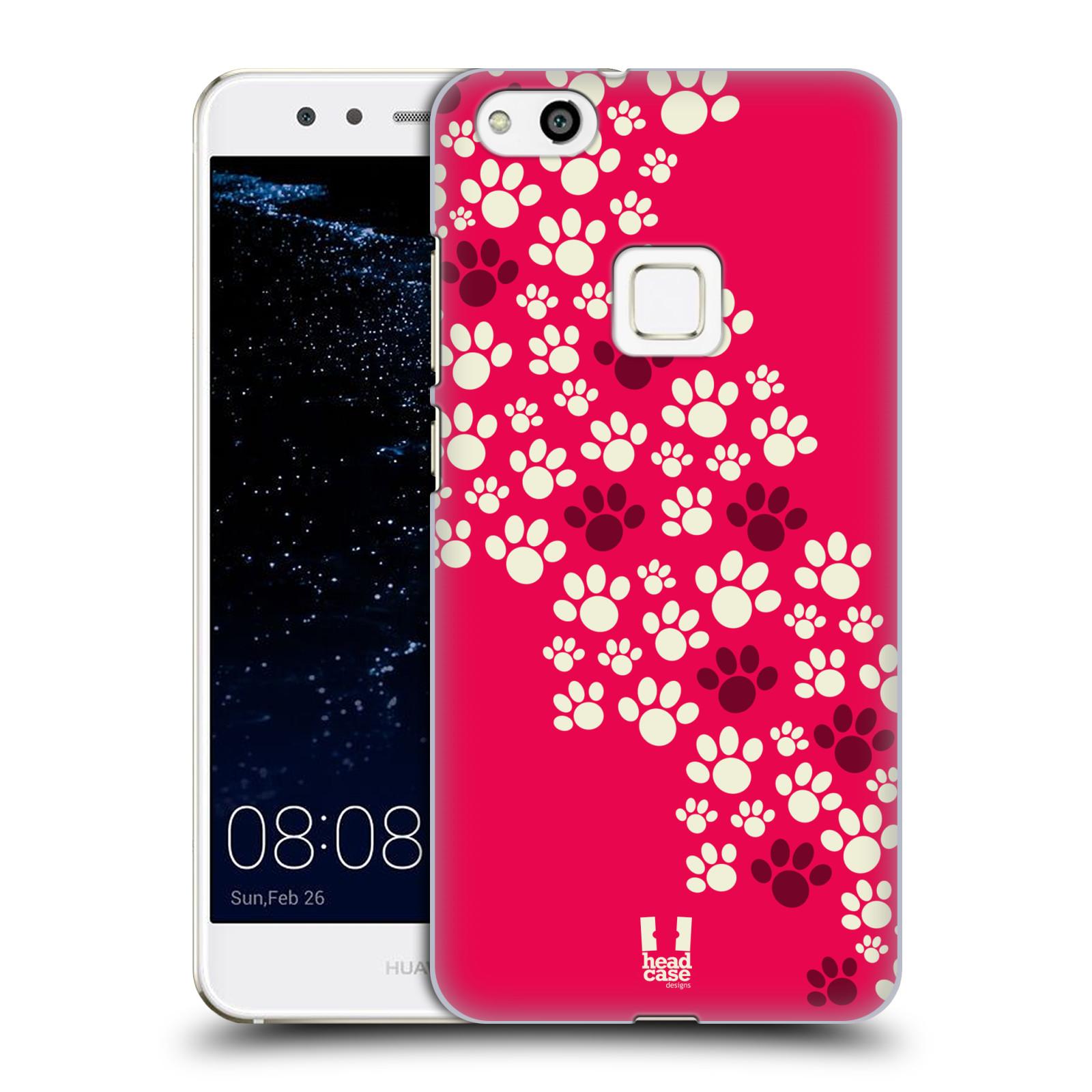 Plastové pouzdro na mobil Huawei P10 Lite Head Case - TLAPKY RŮŽOVÉ (Plastový kryt či obal na mobilní telefon Huawei P10 Lite Dual SIM (LX1/LX1A))