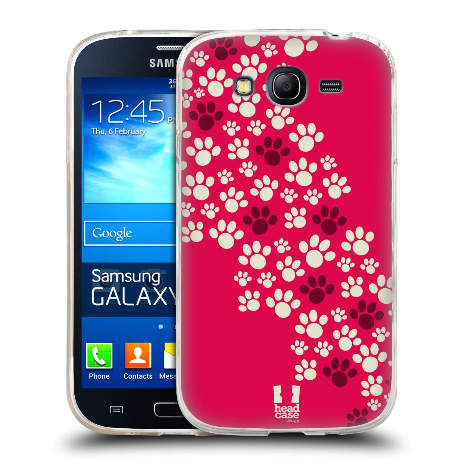 Silikonové pouzdro na mobil Samsung Galaxy Grand Neo HEAD CASE TLAPKY RŮŽOVÉ (Silikonový kryt či obal na mobilní telefon Samsung Galaxy Grand Neo GT-I9060)