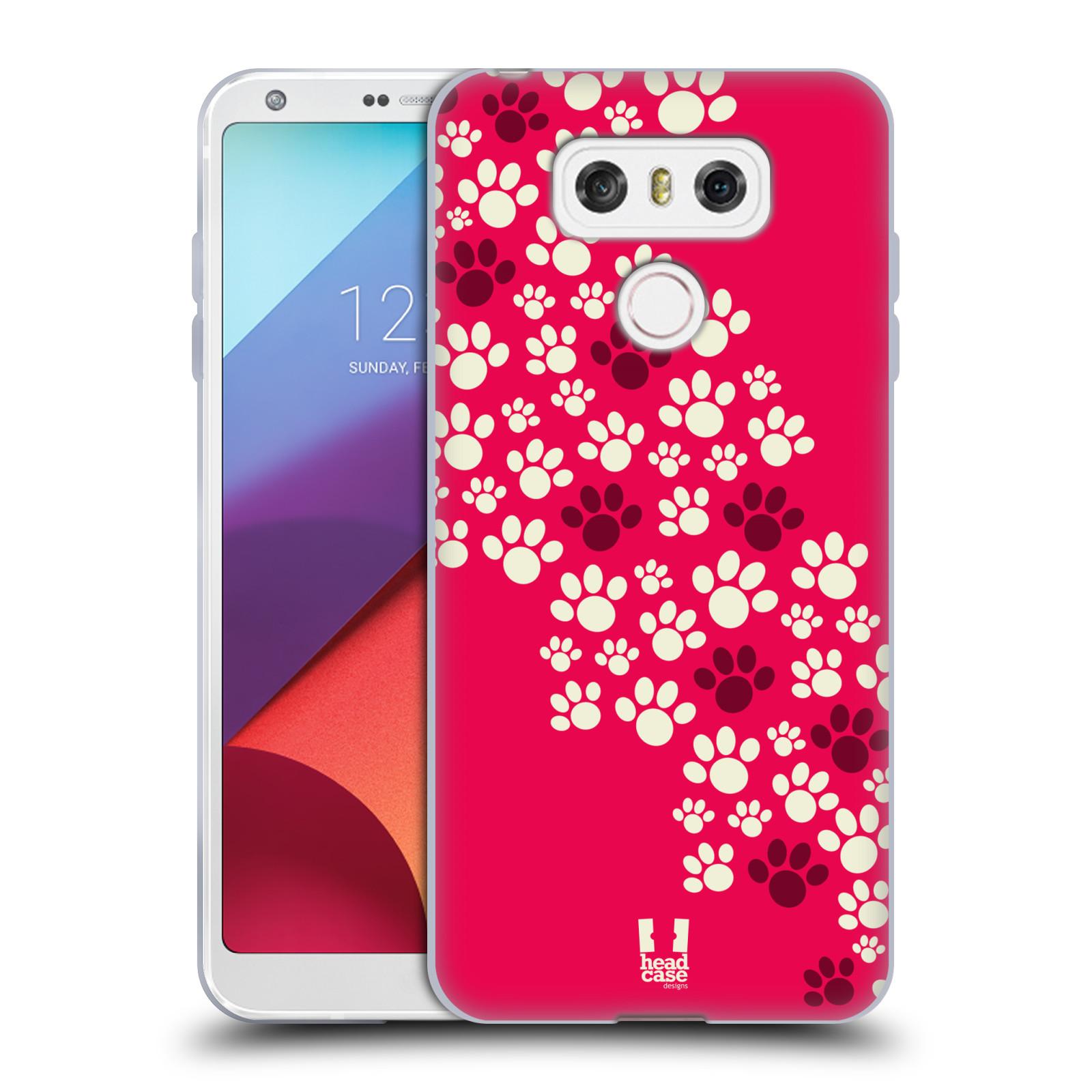 Silikonové pouzdro na mobil LG G6 - Head Case TLAPKY RŮŽOVÉ (Silikonový kryt či obal na mobilní telefon LG G6 H870 / LG G6 Dual SIM H870DS)