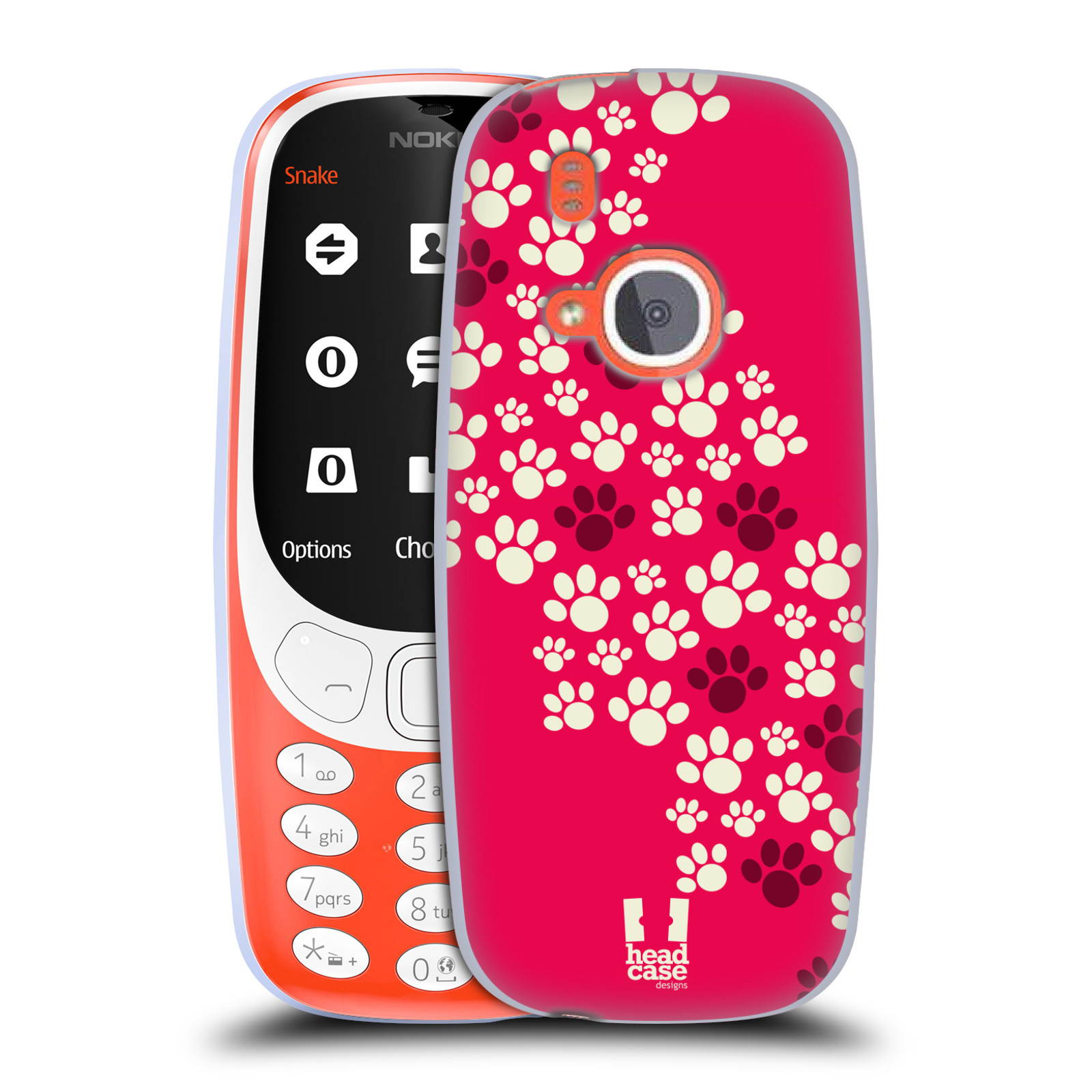 Silikonové pouzdro na mobil Nokia 3310 - Head Case - TLAPKY RŮŽOVÉ (Silikonový kryt či obal na mobilní telefon Nokia 3310 (2017) s motivem TLAPKY RŮŽOVÉ)