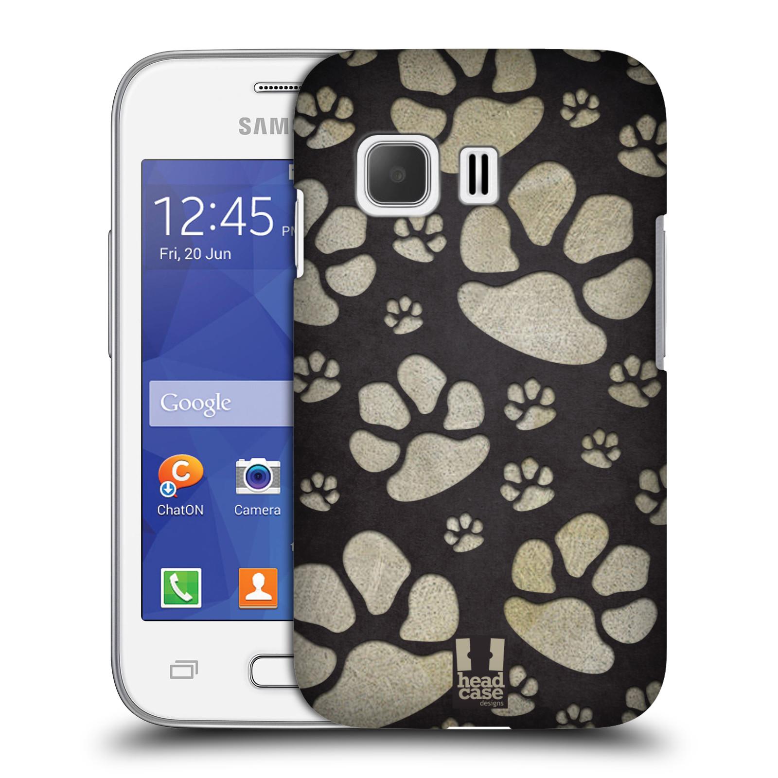 Plastové pouzdro na mobil Samsung Galaxy Young 2 HEAD CASE TLAPKY ŠEDÉ (Kryt či obal na mobilní telefon Samsung Galaxy Young 2 SM-G130)