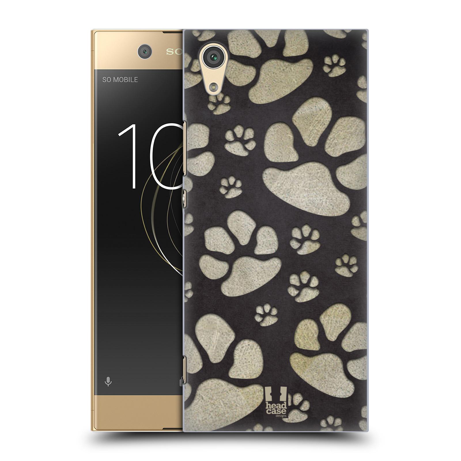 Plastové pouzdro na mobil Sony Xperia XA1 - Head Case - TLAPKY ŠEDÉ (Plastový kryt či obal na mobilní telefon Sony Xperia XA1 G3121 s motivem TLAPKY ŠEDÉ)