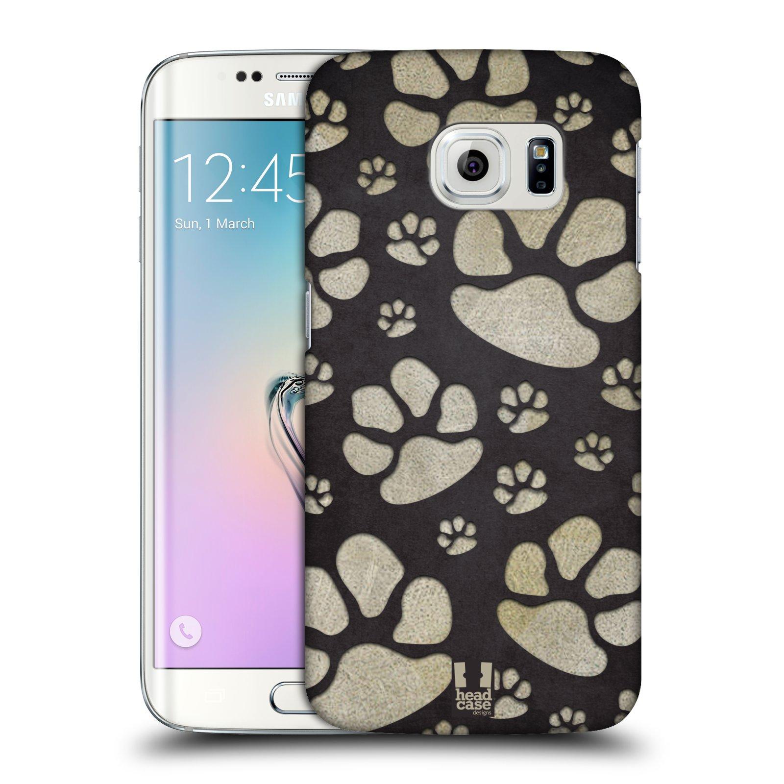 Plastové pouzdro na mobil Samsung Galaxy S6 Edge HEAD CASE TLAPKY ŠEDÉ (Kryt či obal na mobilní telefon Samsung Galaxy S6 Edge SM-G925F)