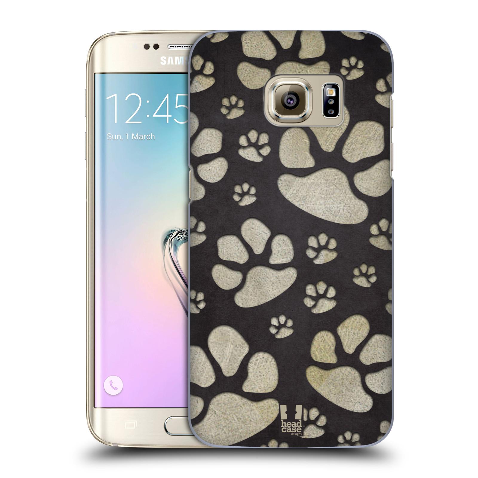 Plastové pouzdro na mobil Samsung Galaxy S7 Edge HEAD CASE TLAPKY ŠEDÉ (Kryt či obal na mobilní telefon Samsung Galaxy S7 Edge SM-G935F)